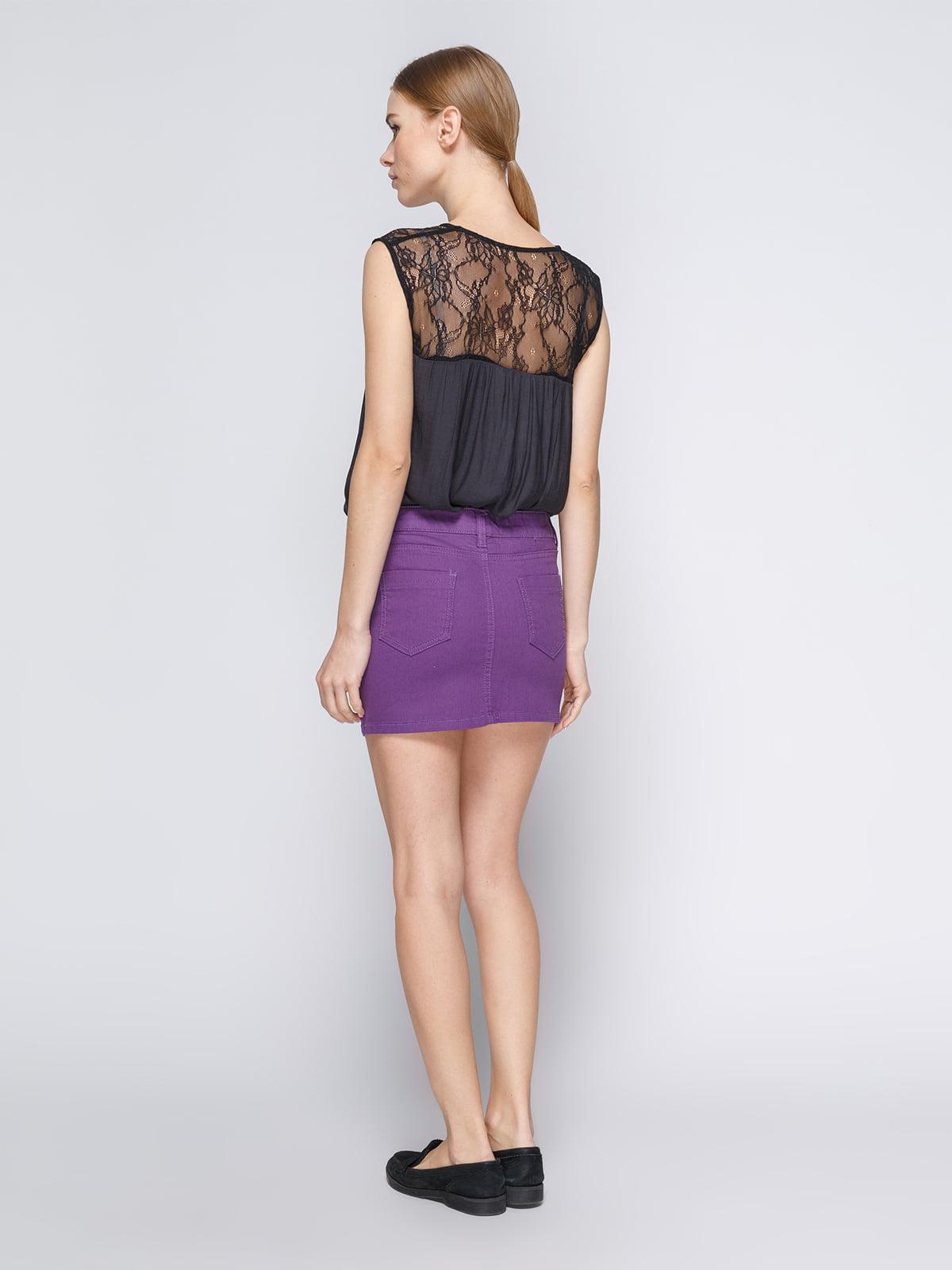 Юбка фиолетовая | 3783207 | фото 3