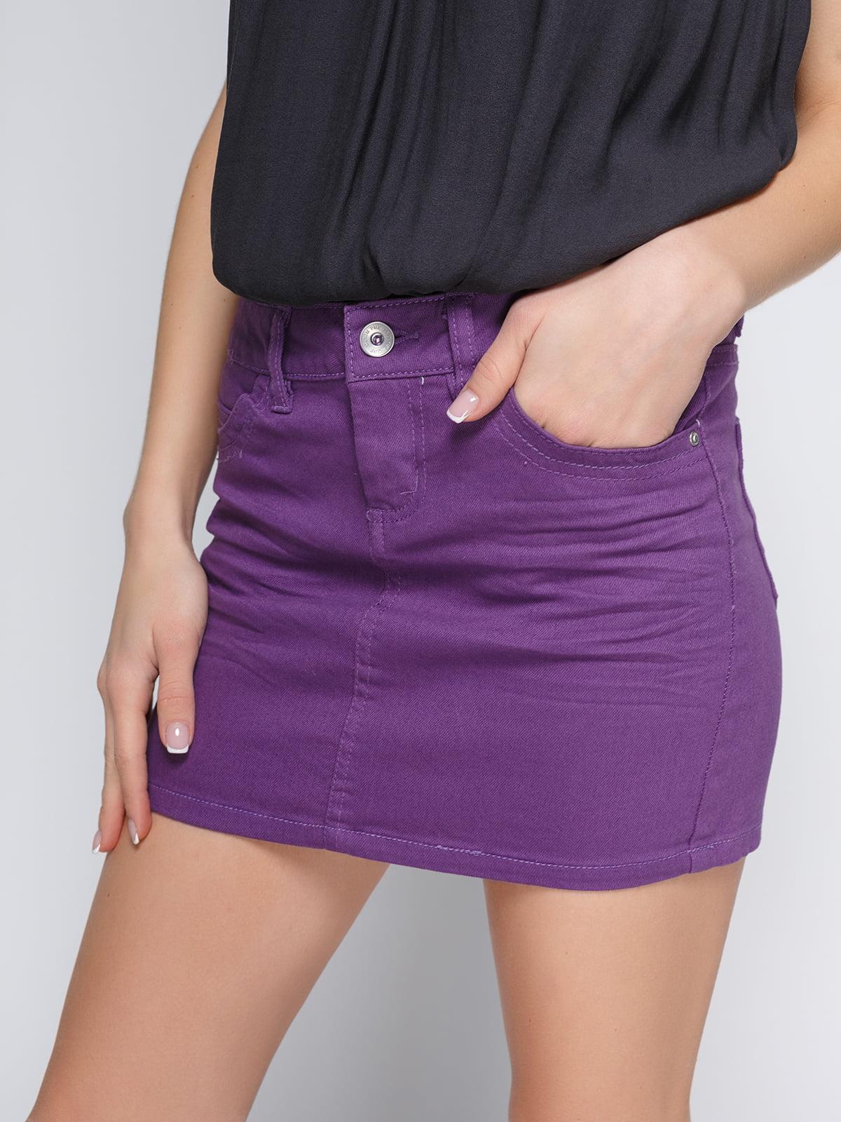Юбка фиолетовая | 3783207 | фото 4