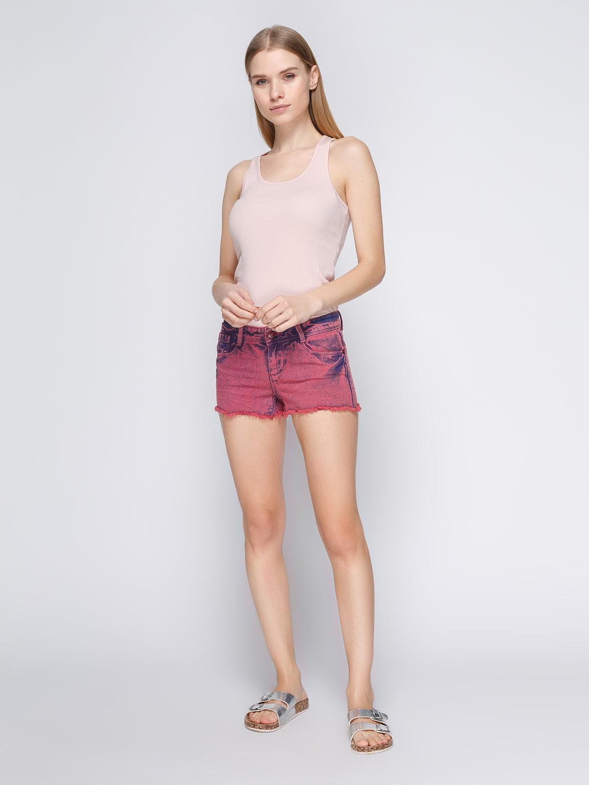 Шорты бордовые джинсовые   3783941   фото 2