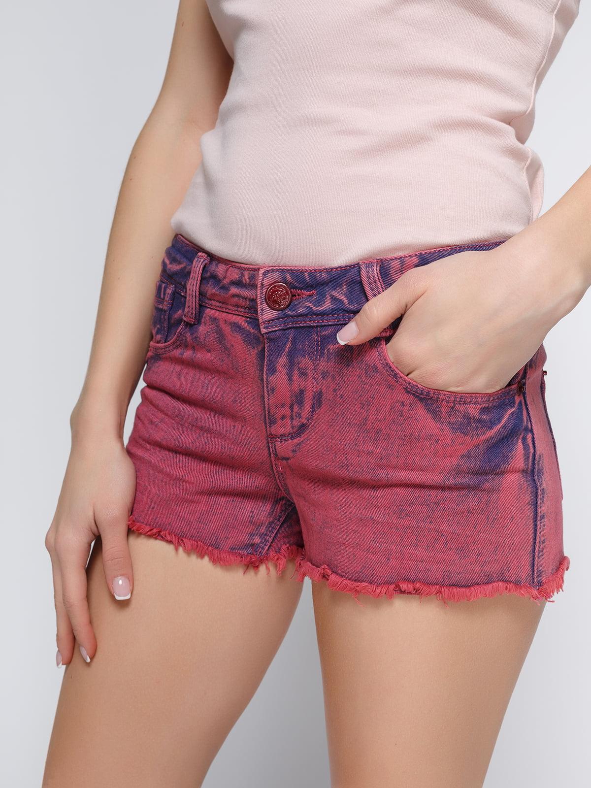 Шорты бордовые джинсовые   3783941   фото 4