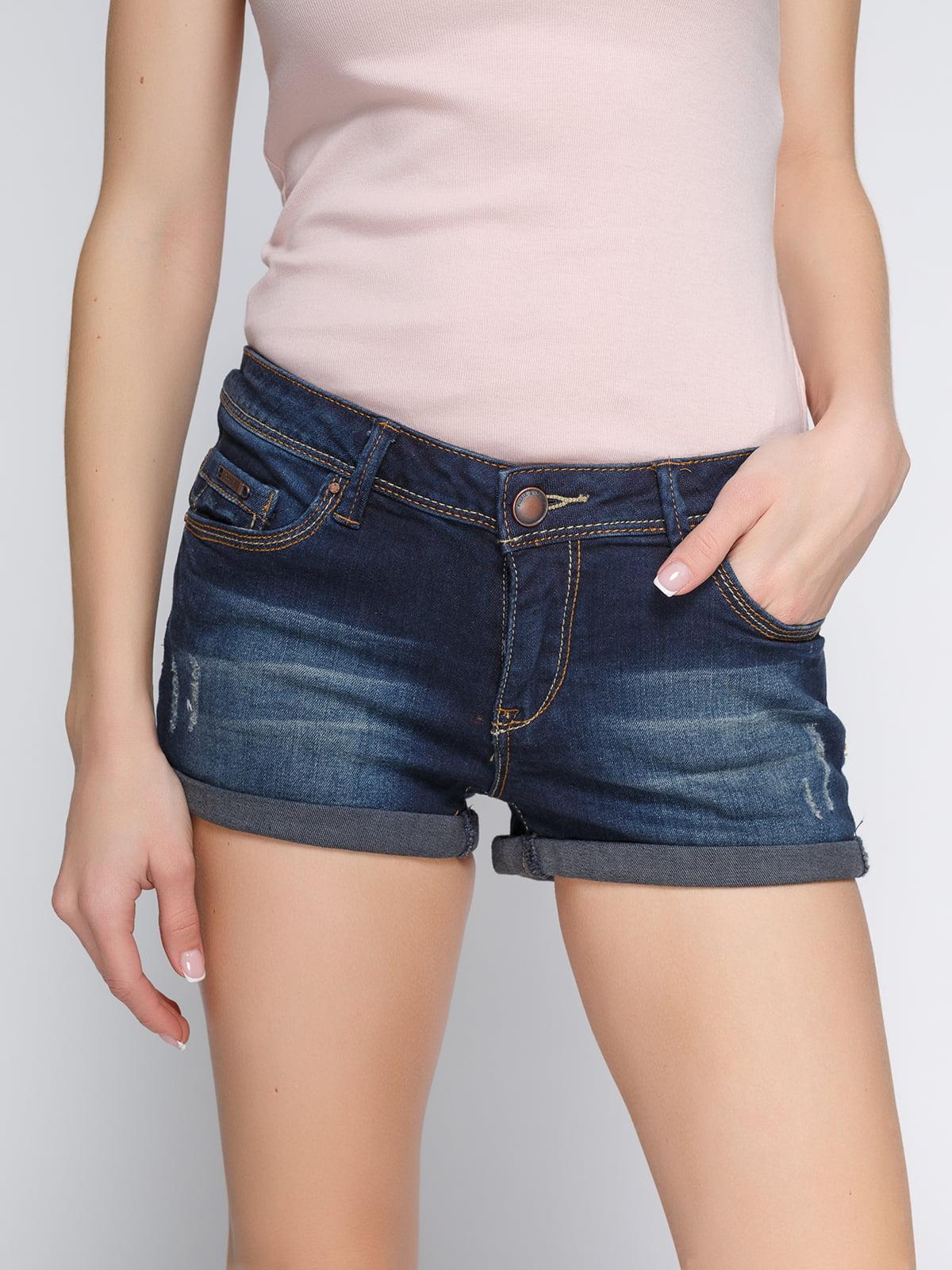Шорты голубые джинсовые | 3783920 | фото 4