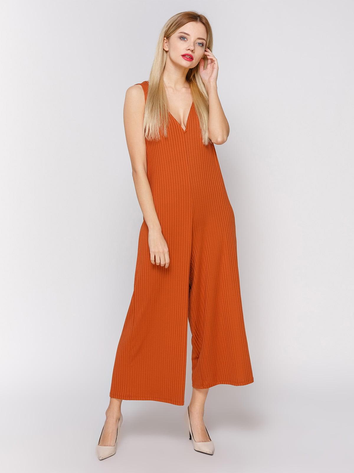 315873c4a58 Комбинезон оранжевый в полоску — Zara