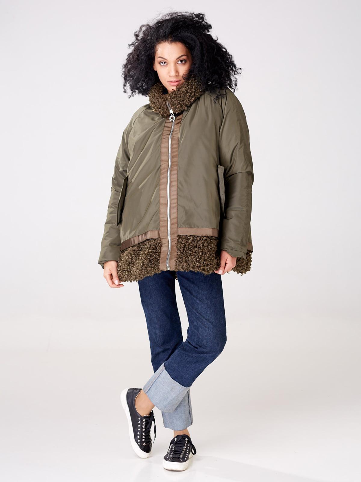 Куртка цвета хаки   4763008