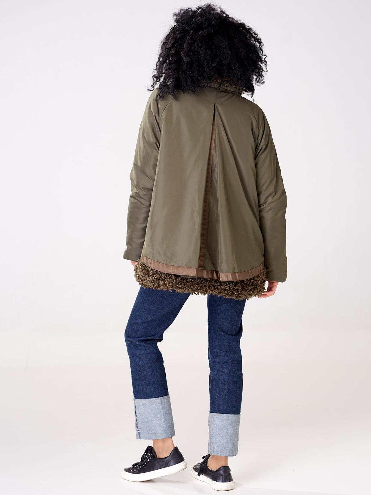 Куртка цвета хаки   4763008   фото 3