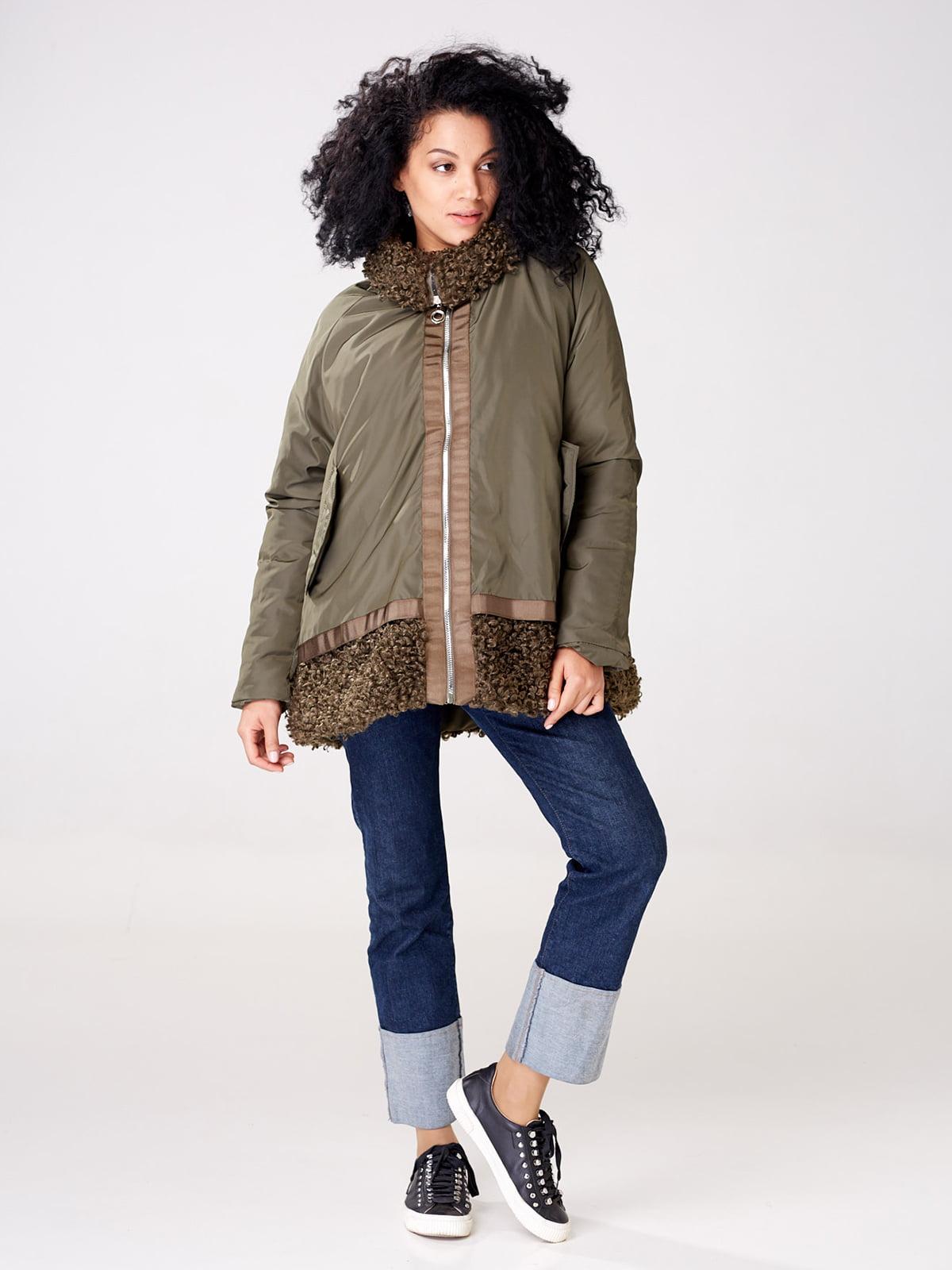 Куртка цвета хаки   4763008   фото 4