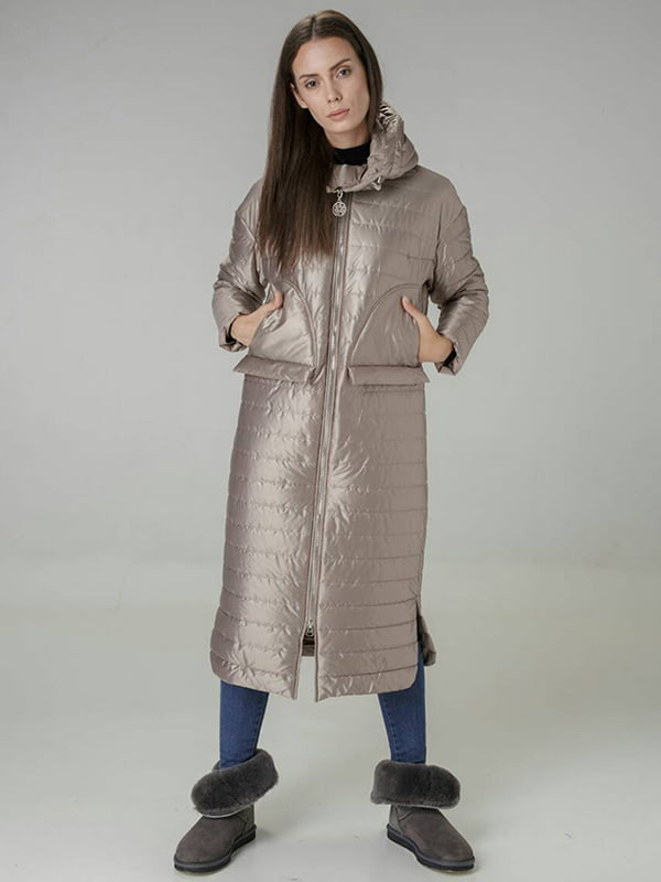 Пальто бежевое | 4763005 | фото 3
