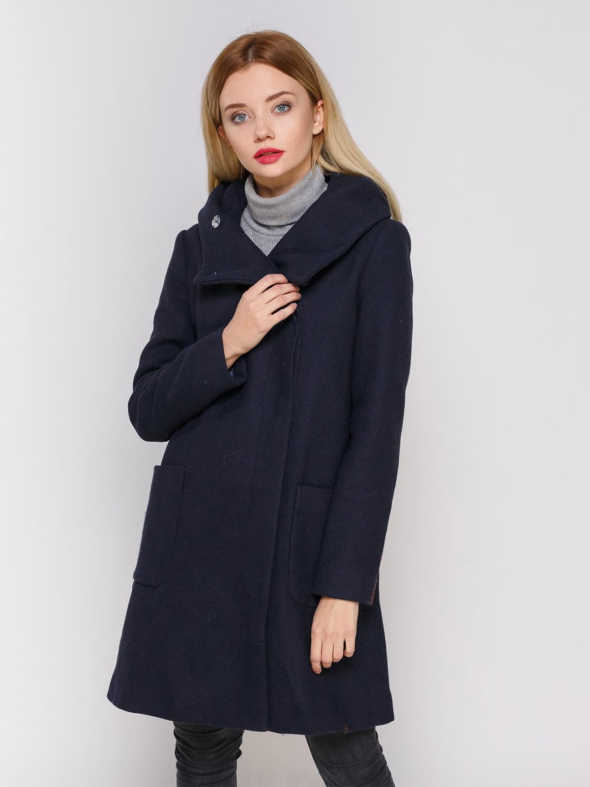 Пальто темно-синее | 3910525