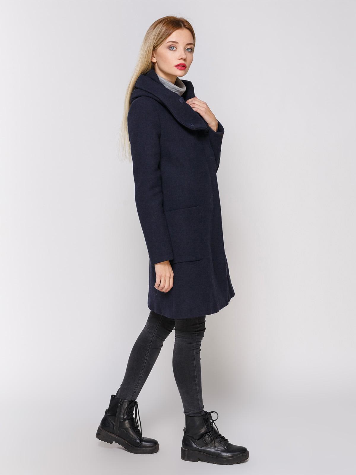 Пальто темно-синее | 3910525 | фото 2