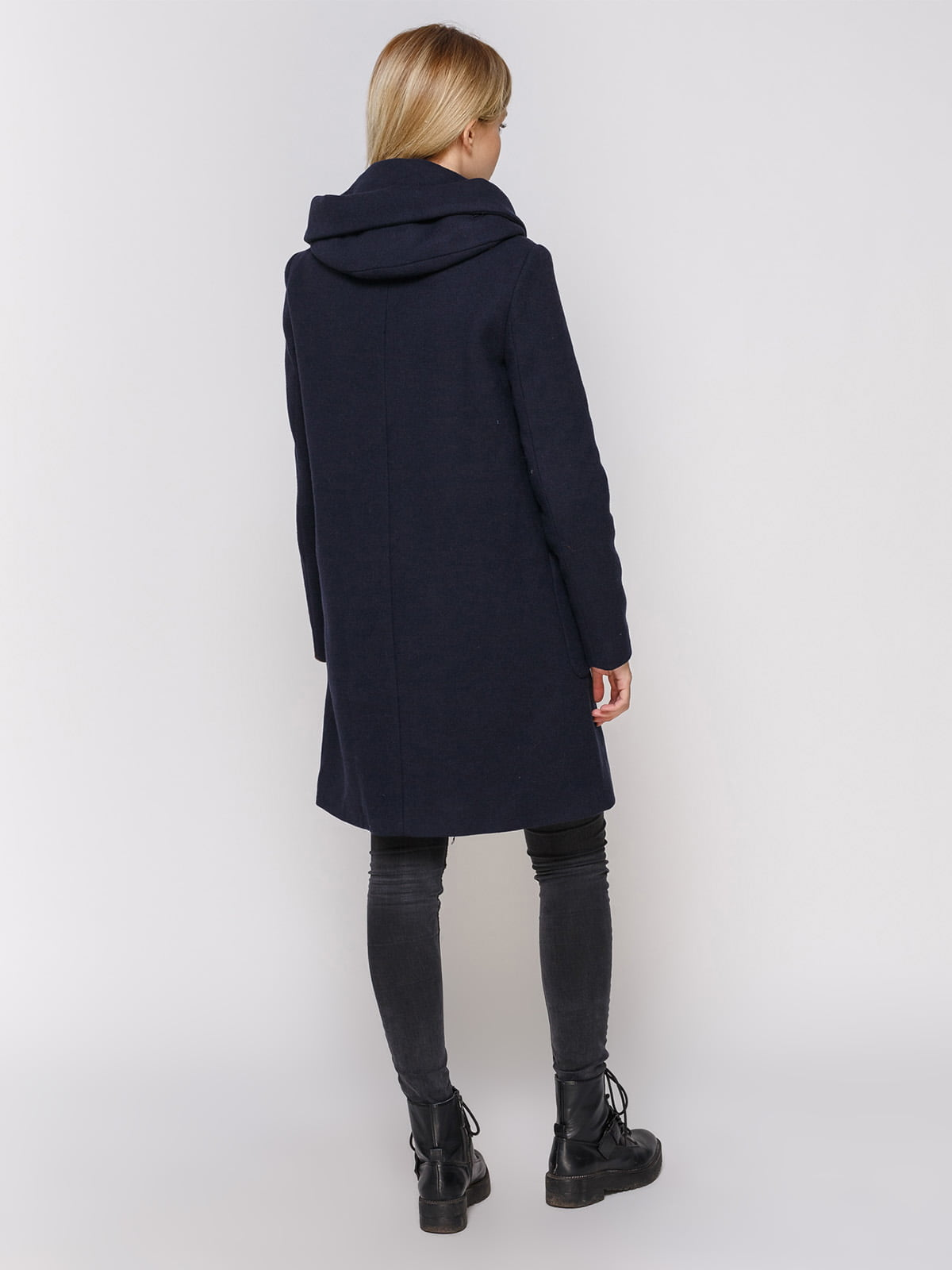 Пальто темно-синее | 3910525 | фото 3