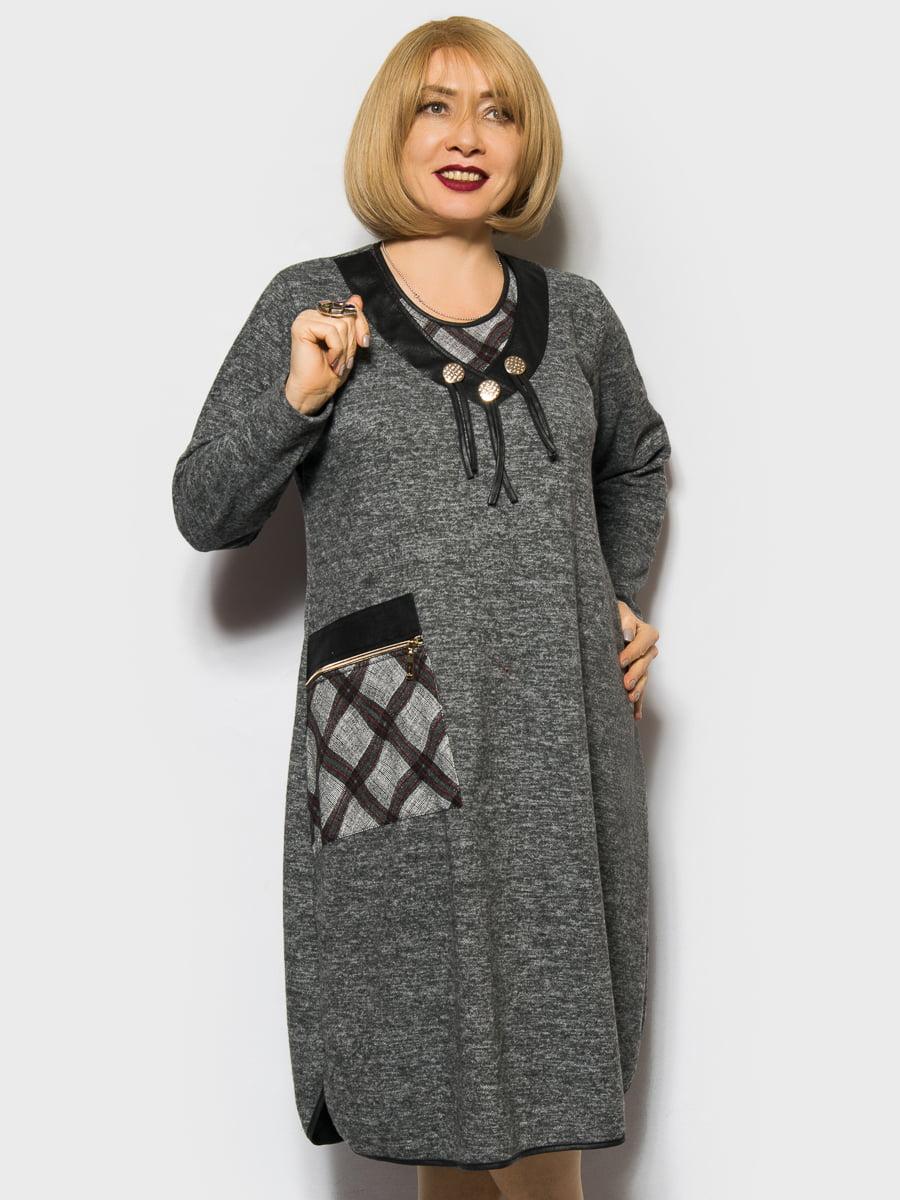 Платье темно-серое | 4764011