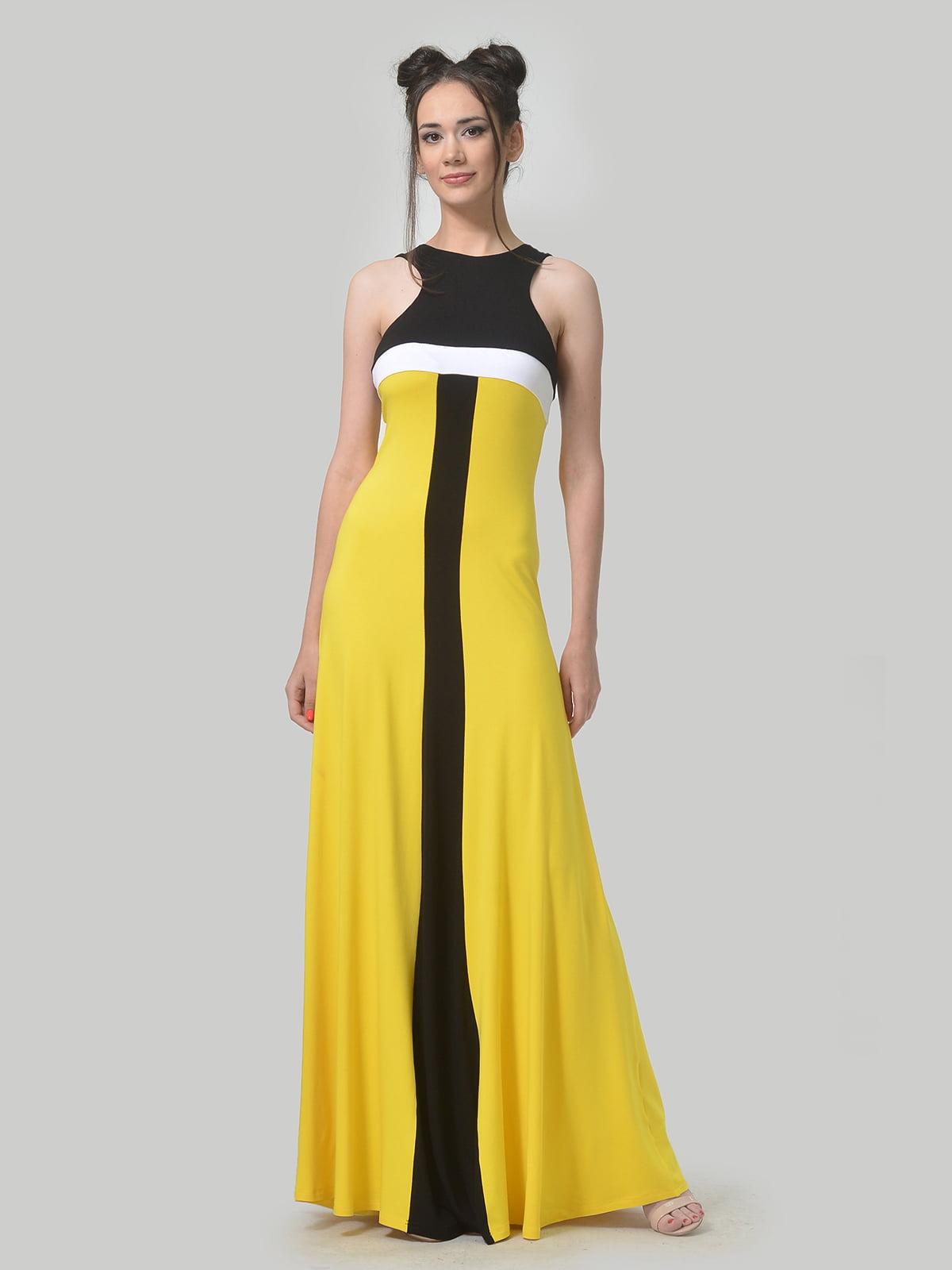 Платье комбинированной расцветки   4767831