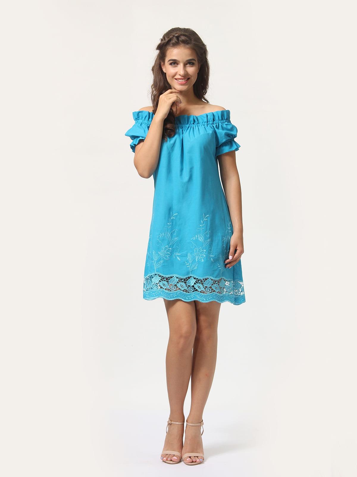 Платье голубое | 4767852