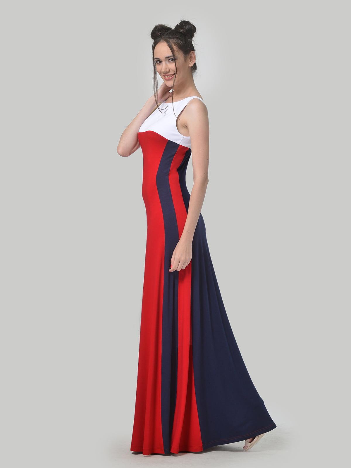 Платье комбинированной расцветки | 4767930