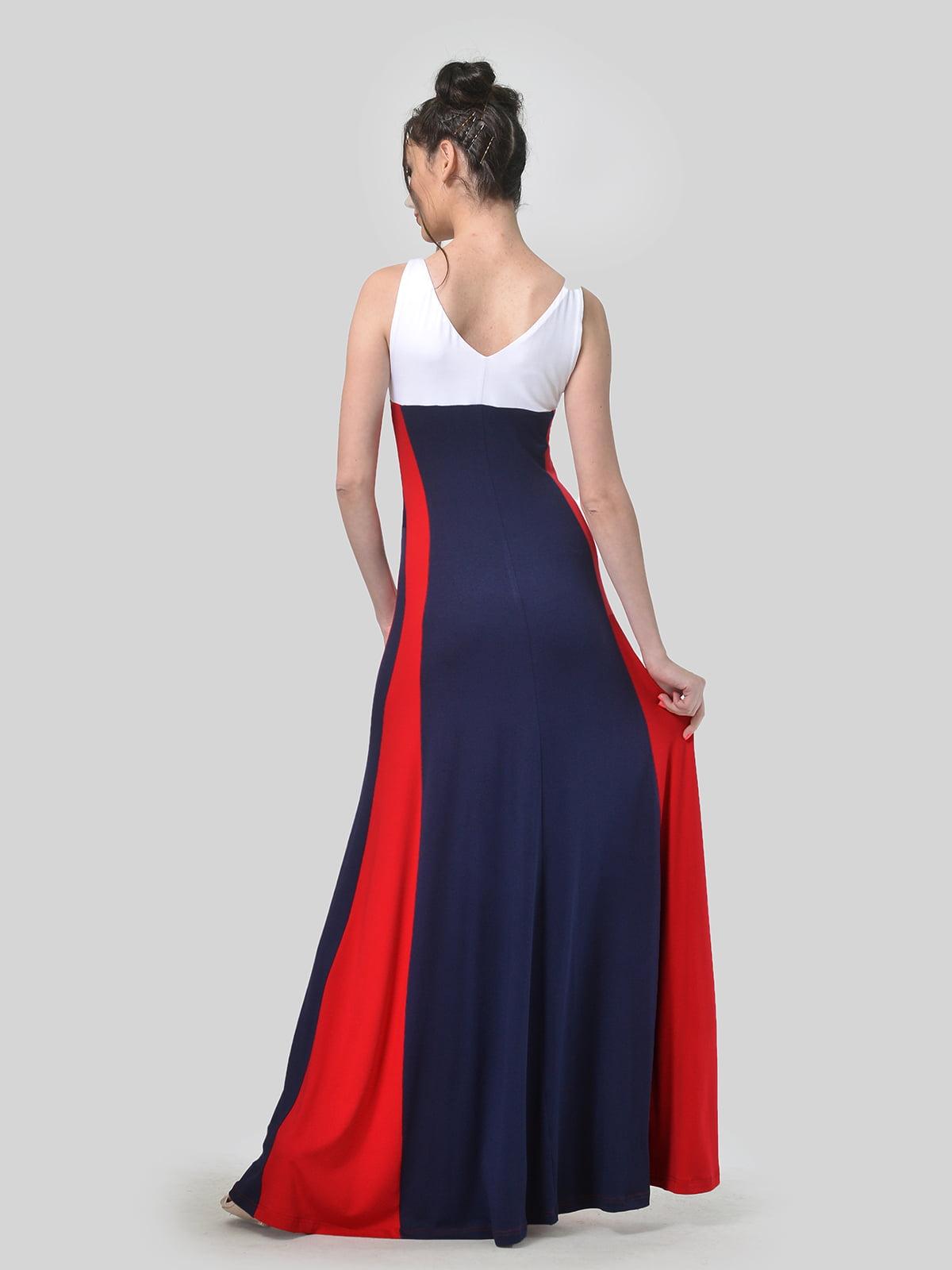 Платье комбинированной расцветки | 4767930 | фото 2