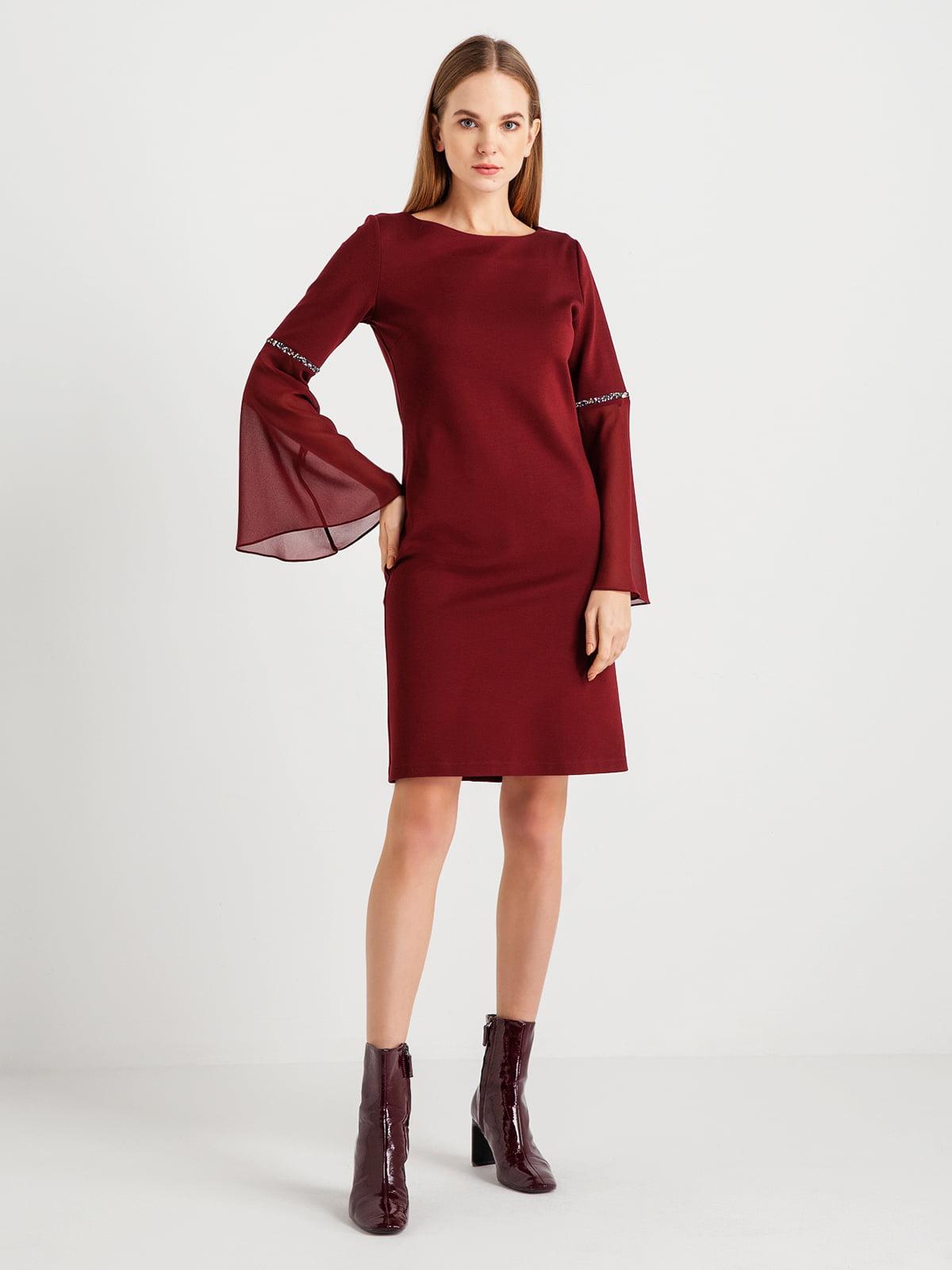 Платье бордовое | 4762928