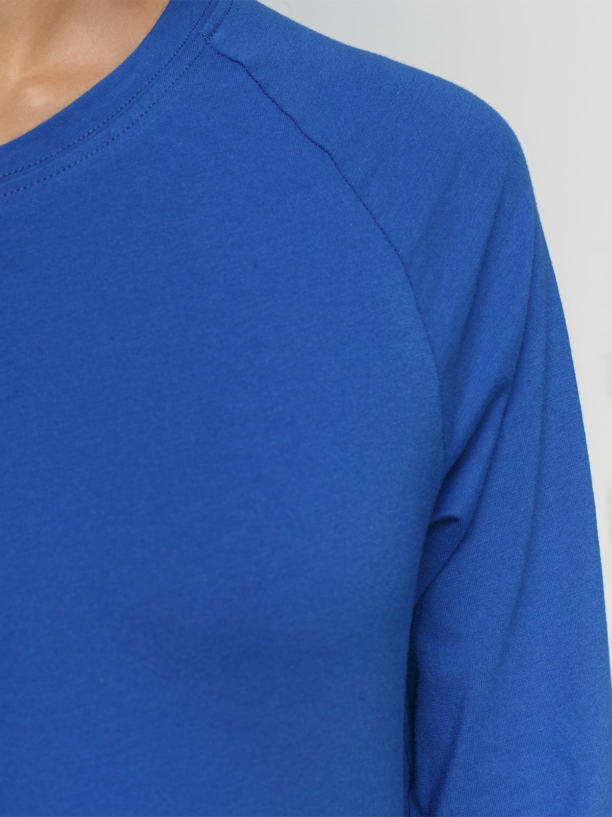 Лонгслив синий | 4768935 | фото 3