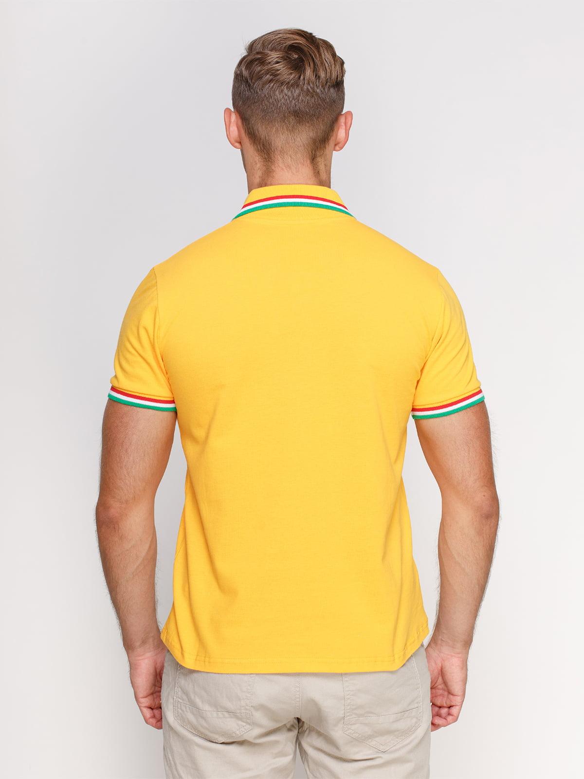 Футболка-поло желтая | 4768952 | фото 2