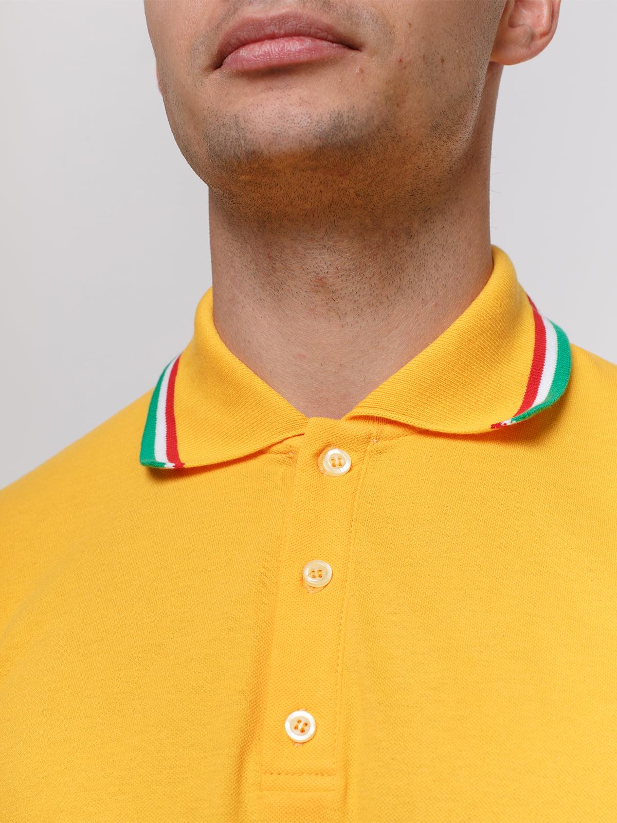 Футболка-поло желтая | 4768952 | фото 3