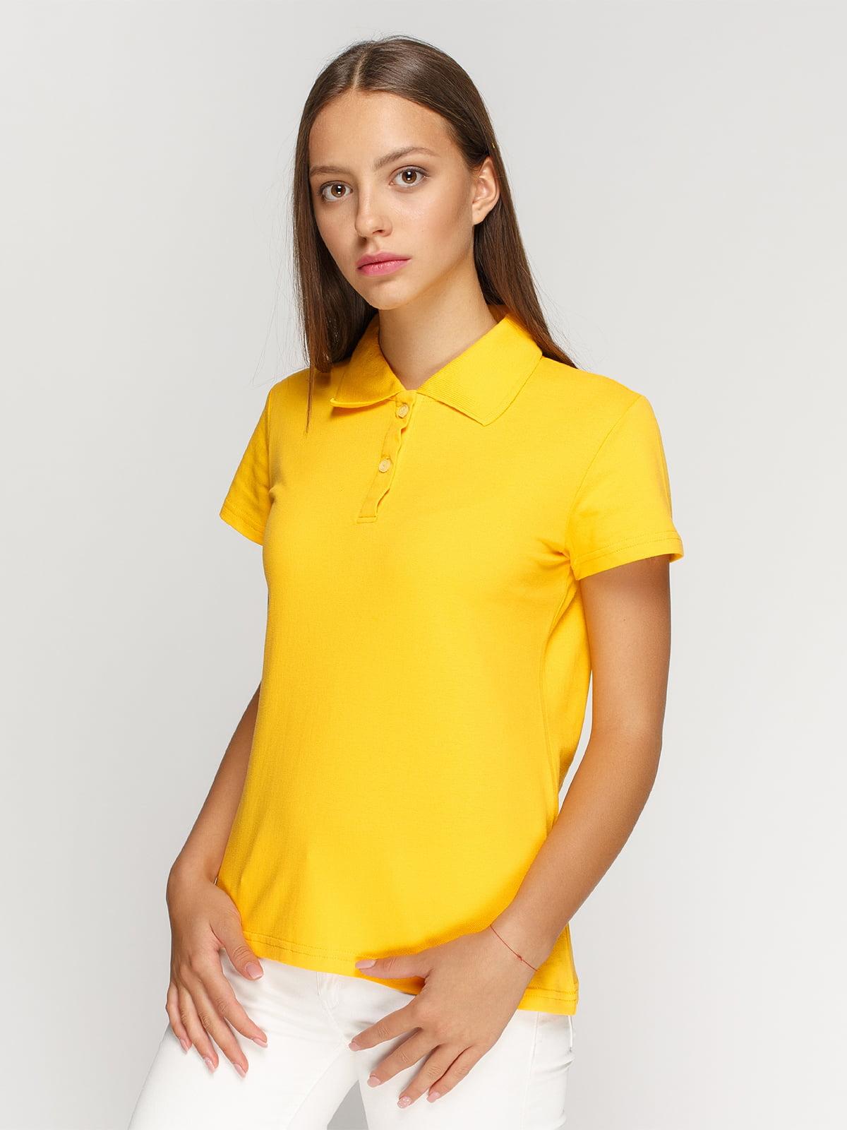 Футболка-поло желтая | 4768978