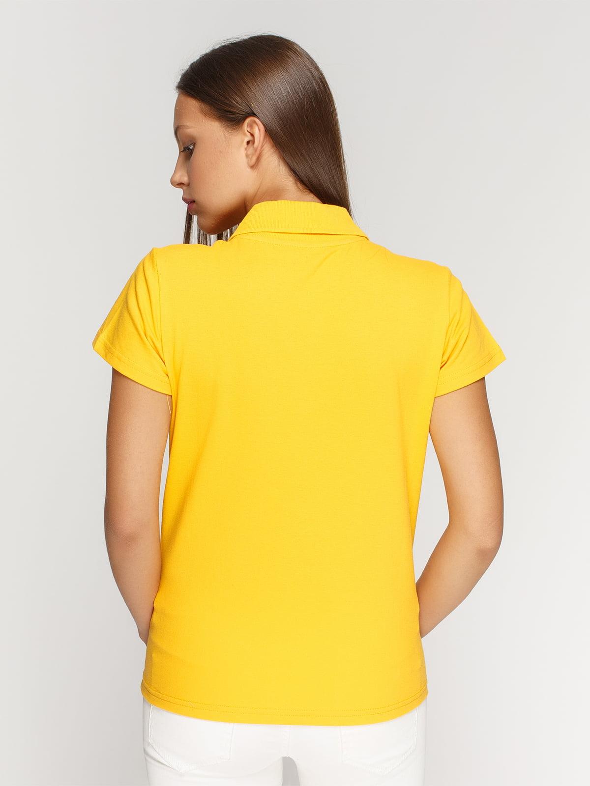 Футболка-поло желтая | 4768978 | фото 2