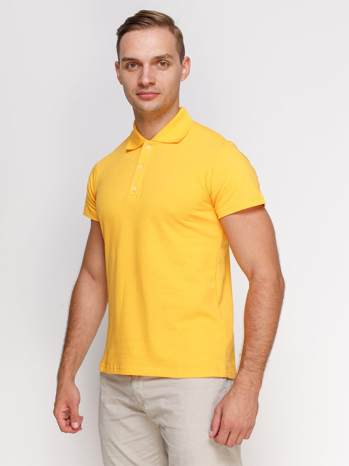 Футболка-поло жовта | 4768981