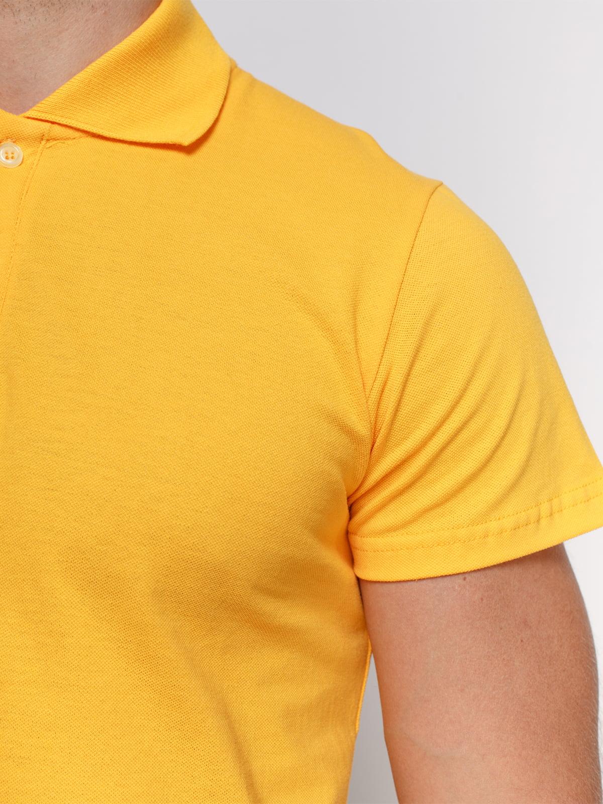 Футболка-поло жовта | 4768981 | фото 3