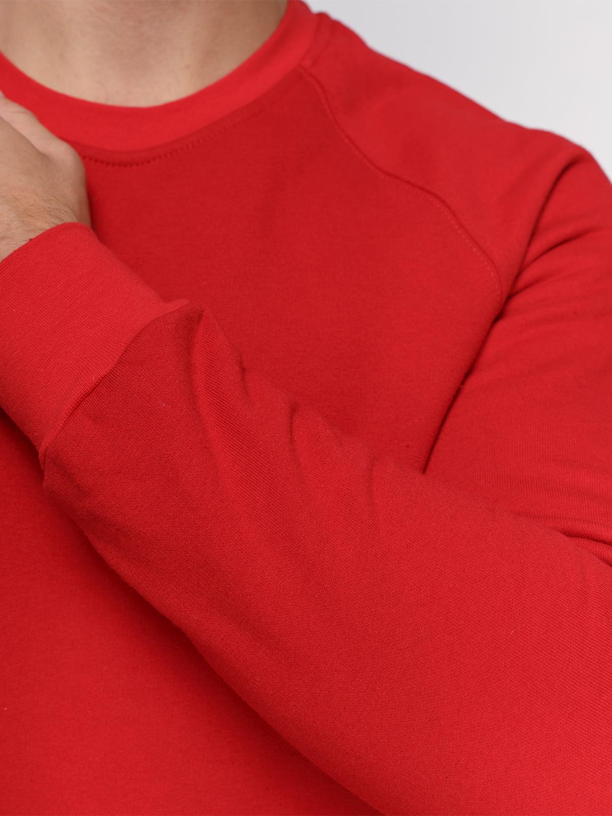 Свитшот красный с начесом | 4768998 | фото 3