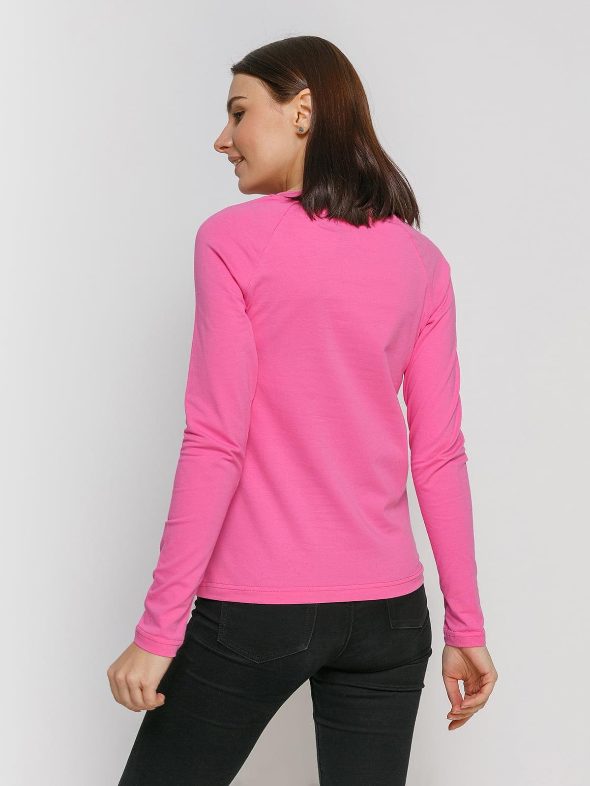 Лонгслив розовый с принтом | 4768892 | фото 2