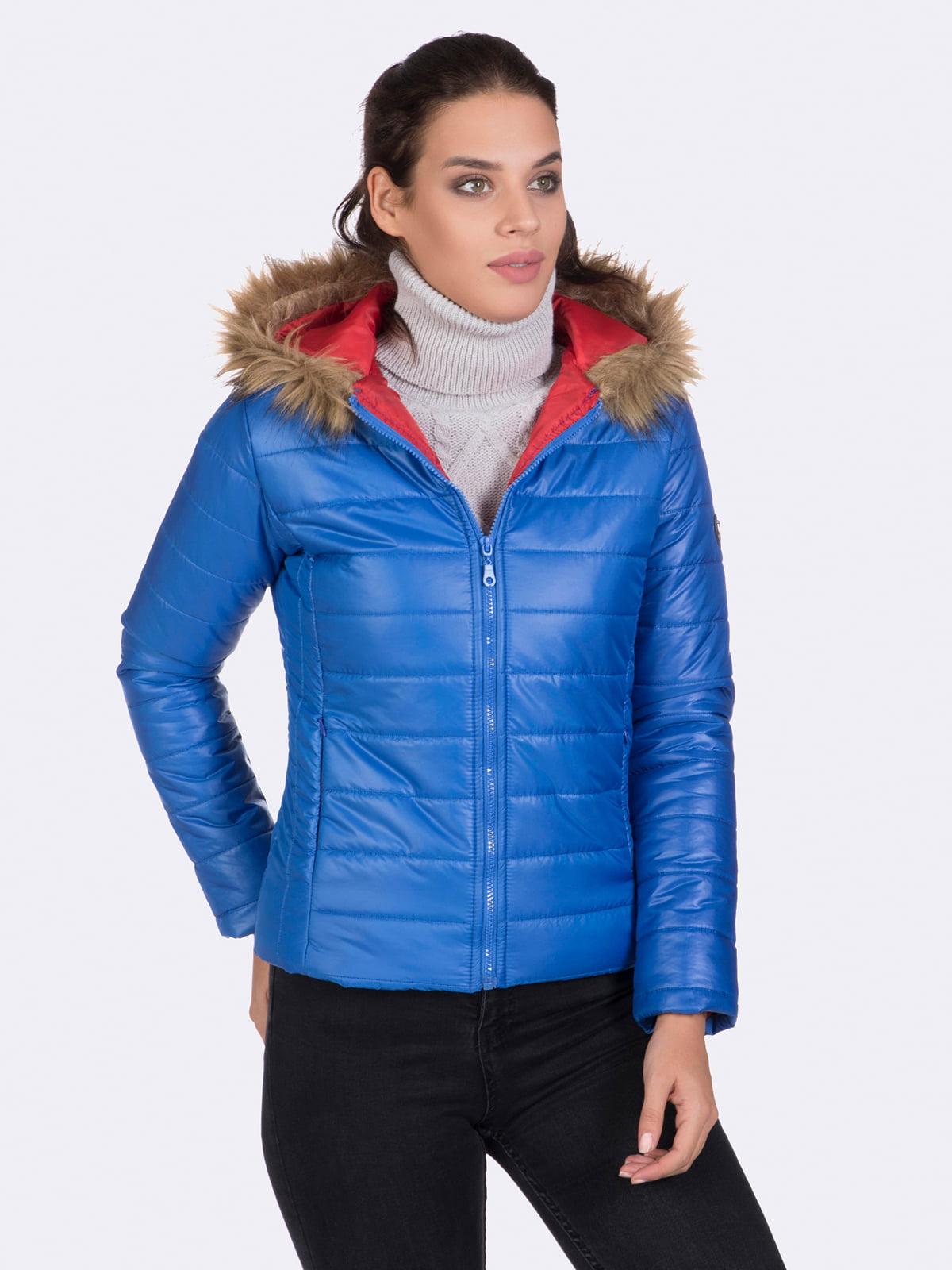 Куртка цвета электрик | 4764634 | фото 2