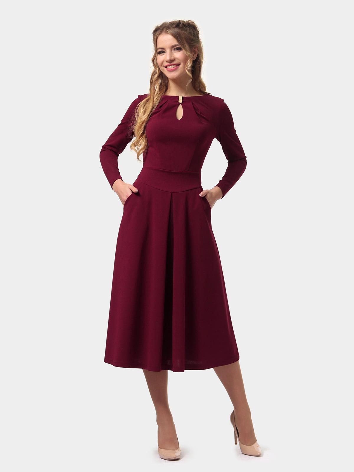 Платье бордовое   4775670