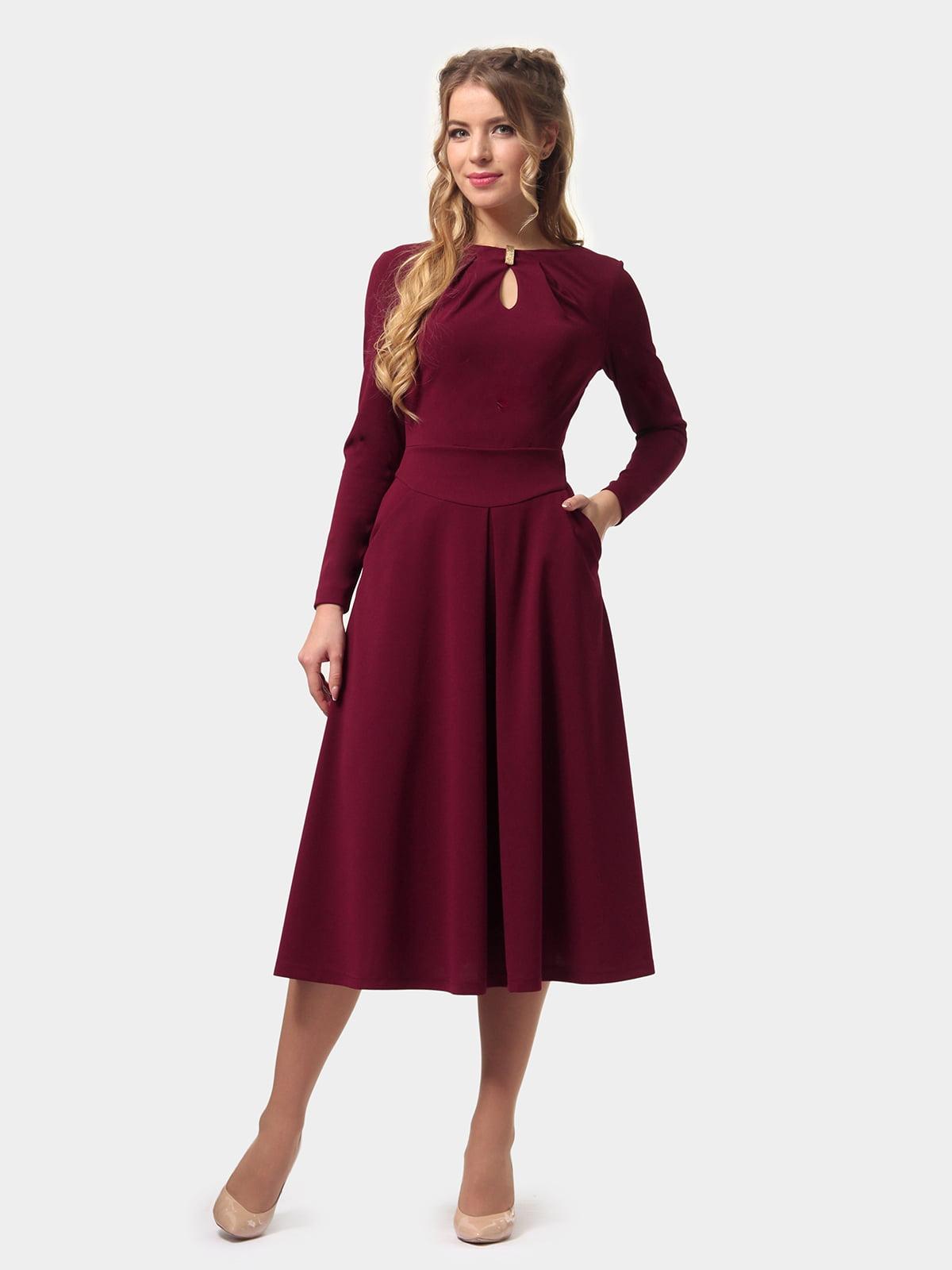 Платье бордовое   4775670   фото 2
