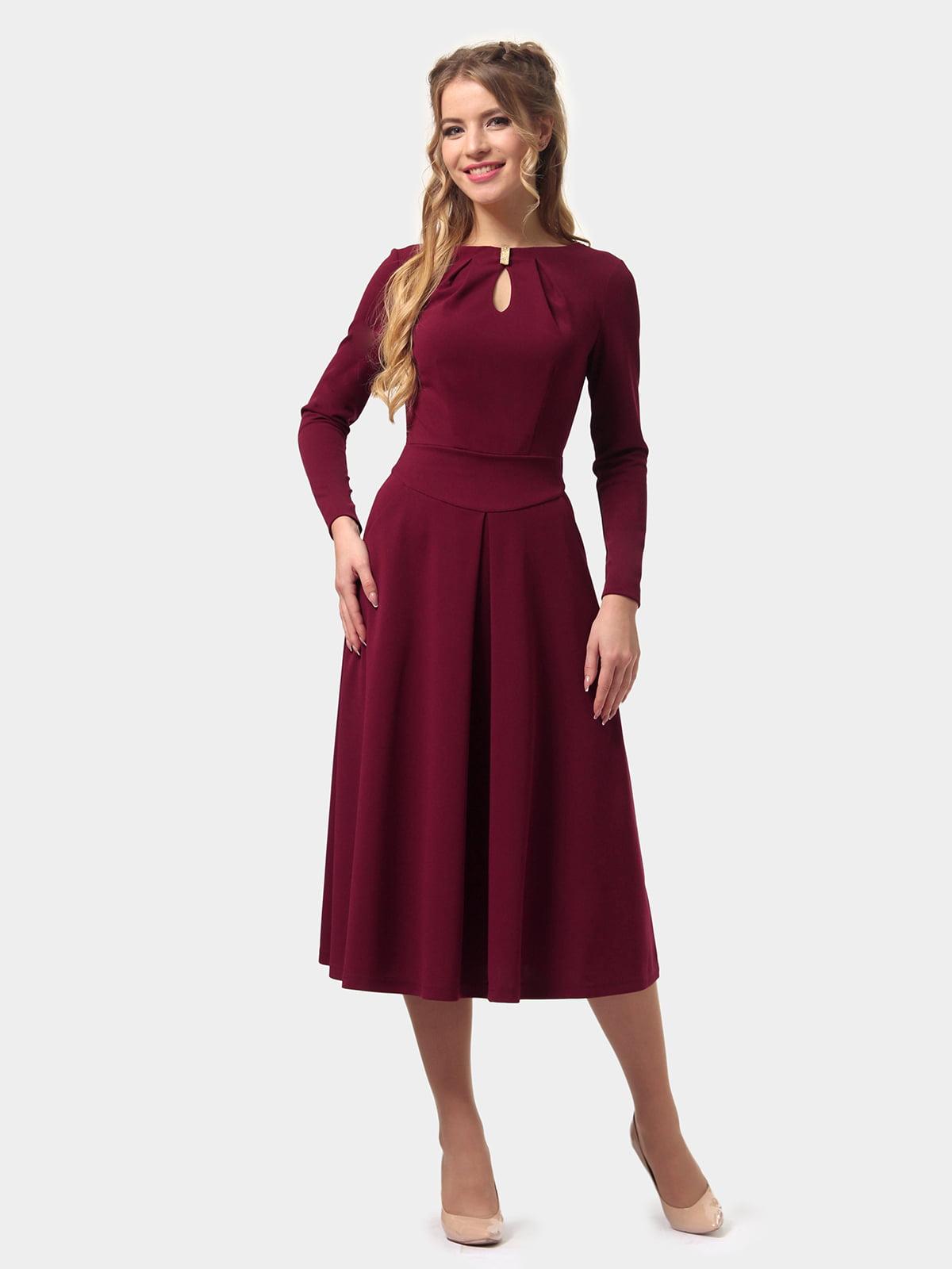 Платье бордовое   4775670   фото 3