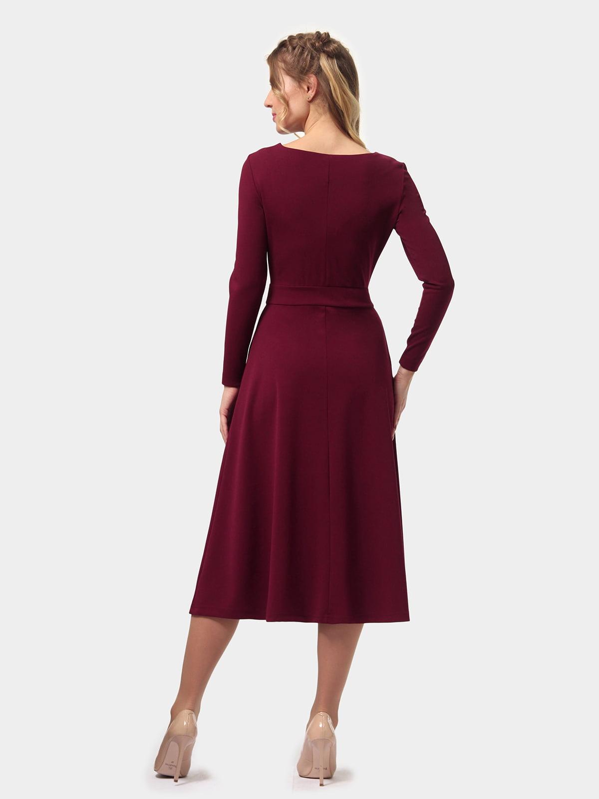 Платье бордовое   4775670   фото 5
