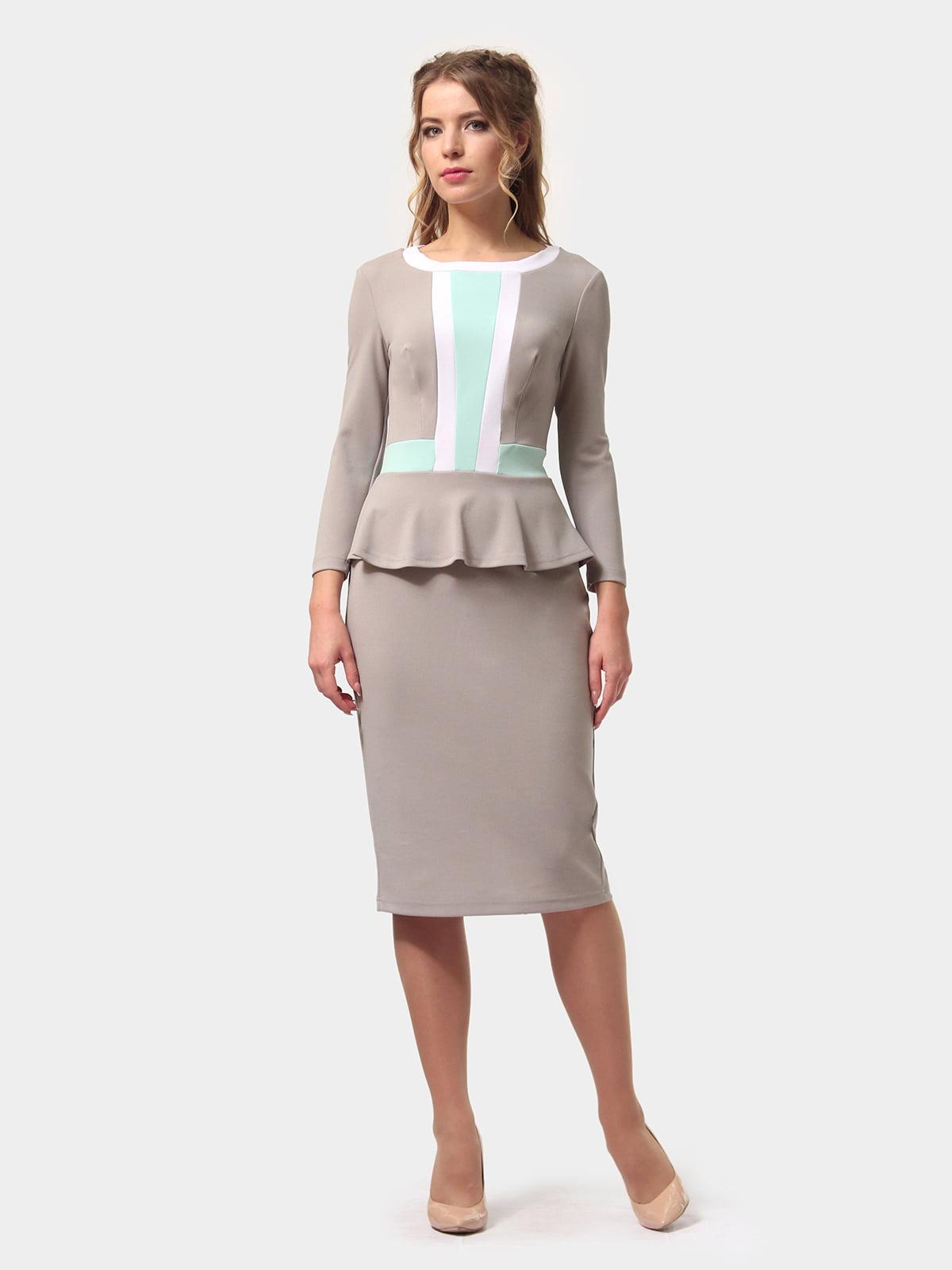 Платье серое | 4775694 | фото 3
