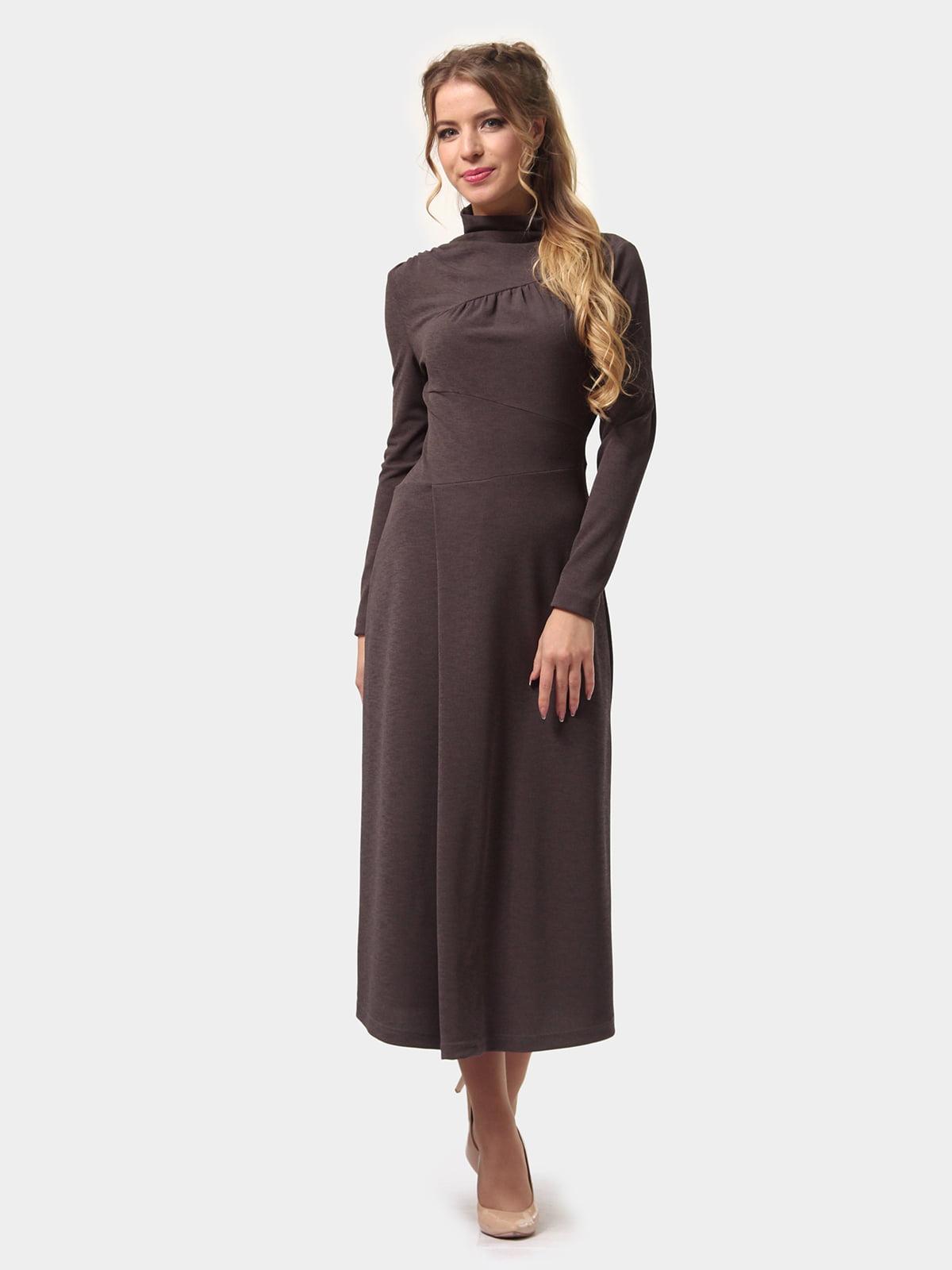 Платье графитового цвета | 4775700 | фото 3