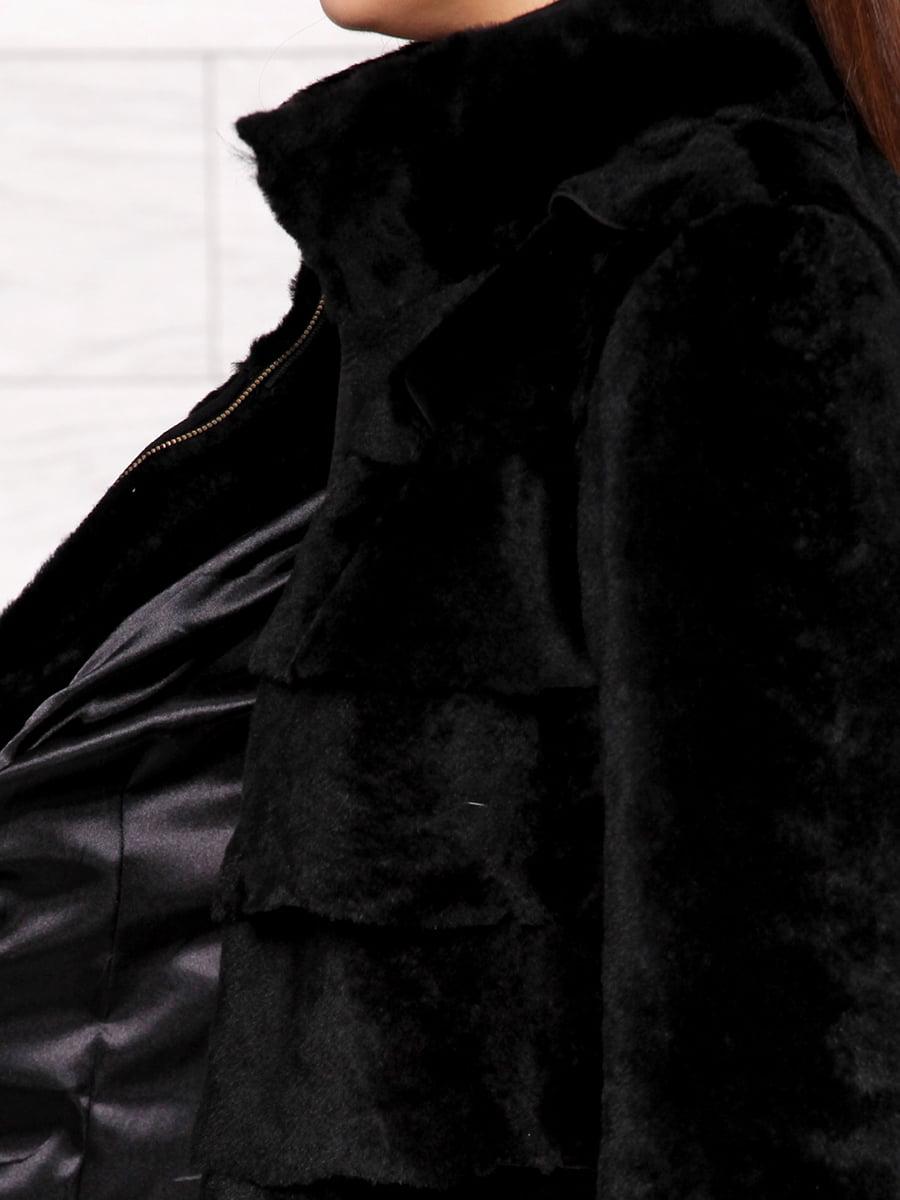 Полушубок черный | 4705346 | фото 3