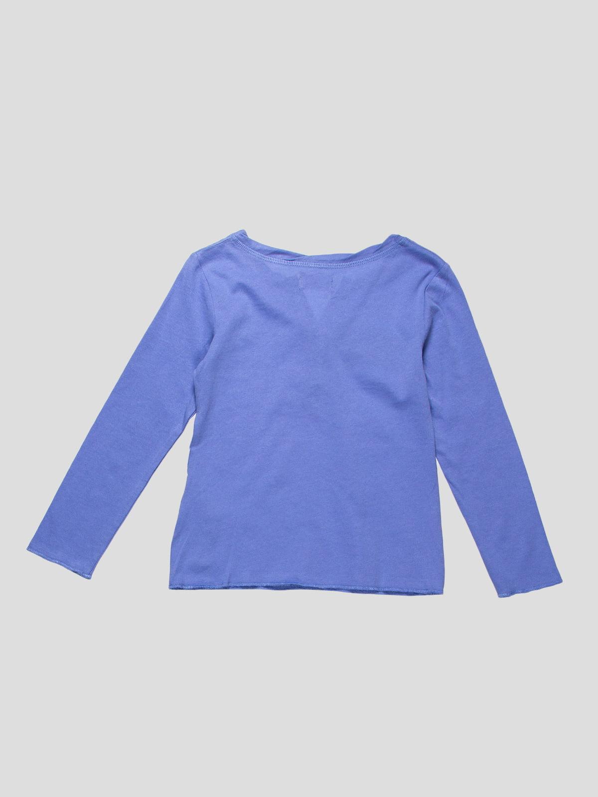 Лонгслів блакитний | 2383675 | фото 2