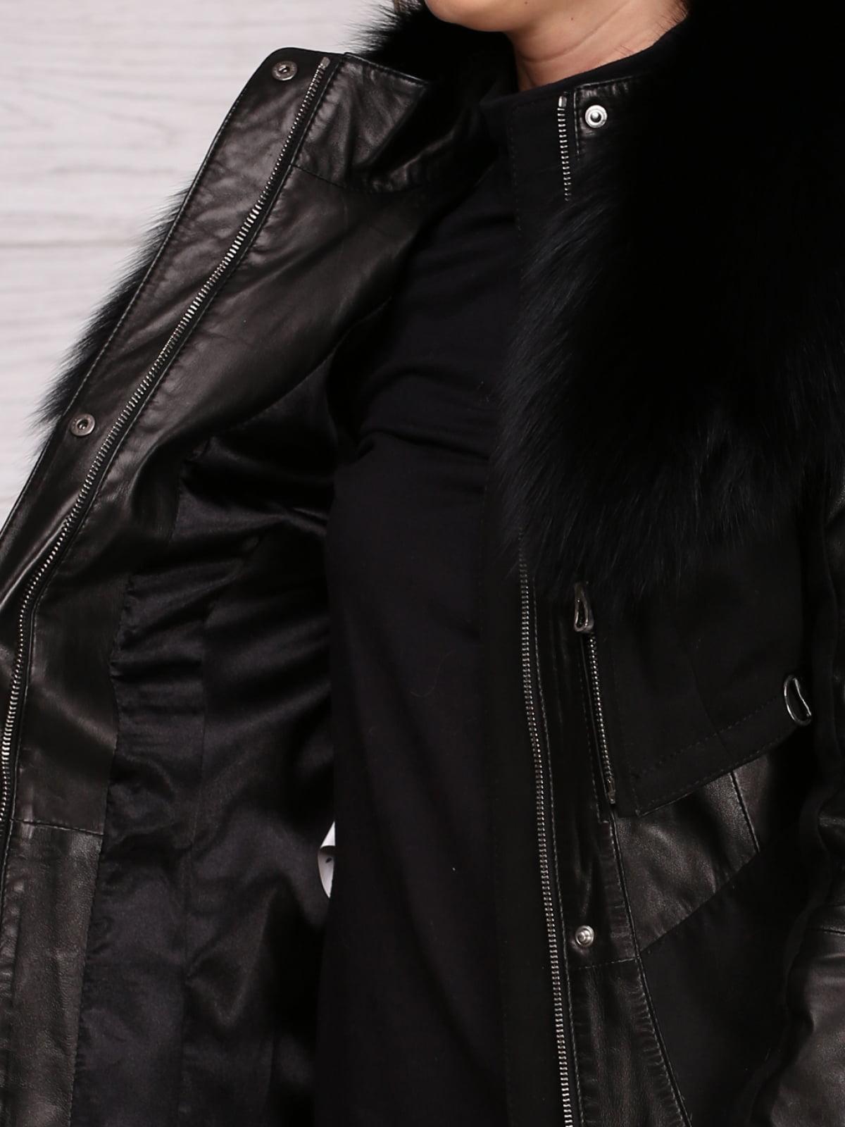 Плащ черный с жилетом   4705542   фото 3