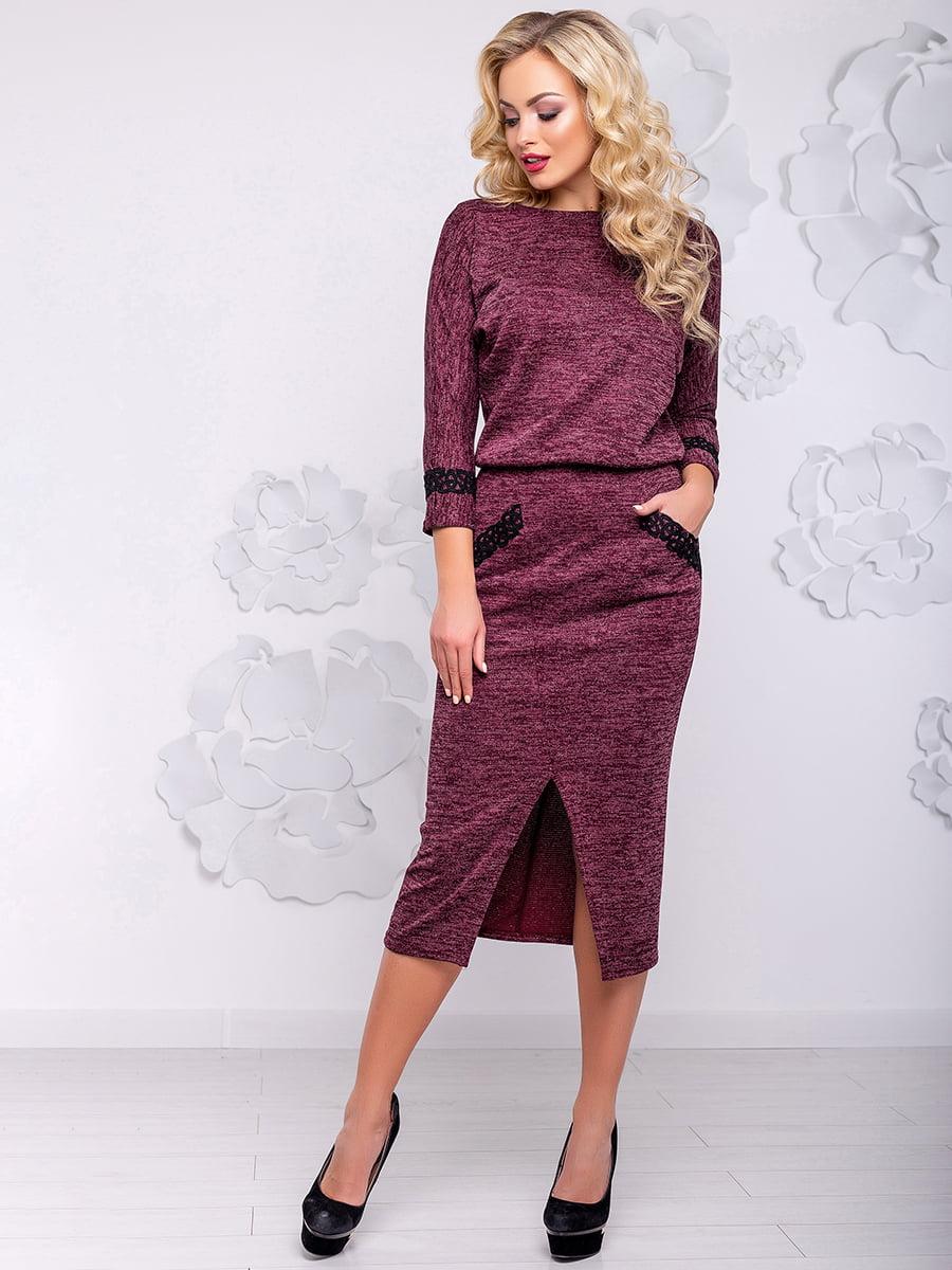 Платье цвета марсала | 4776530