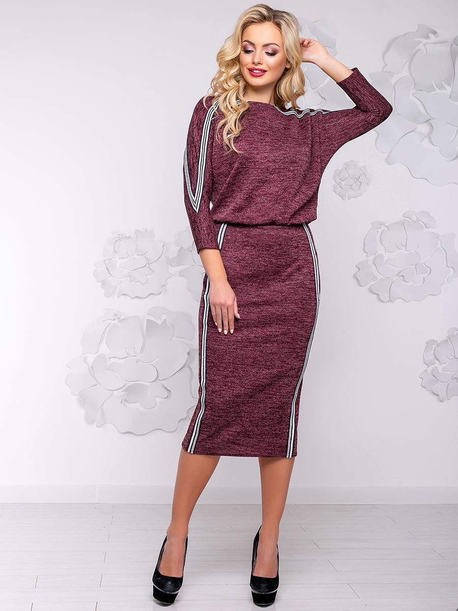 Платье цвета марсала | 4776536
