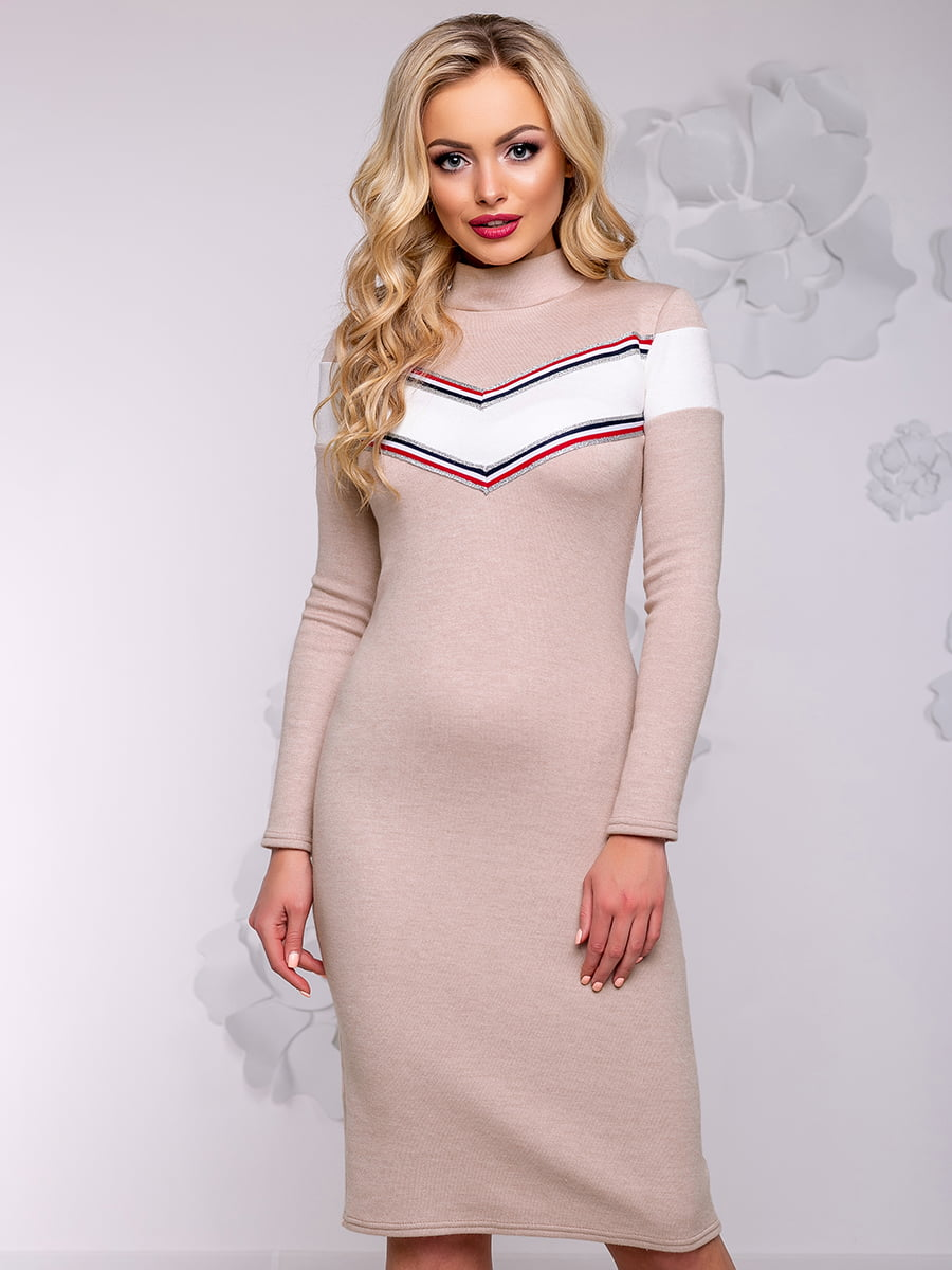 Платье кофейного цвета | 4776544