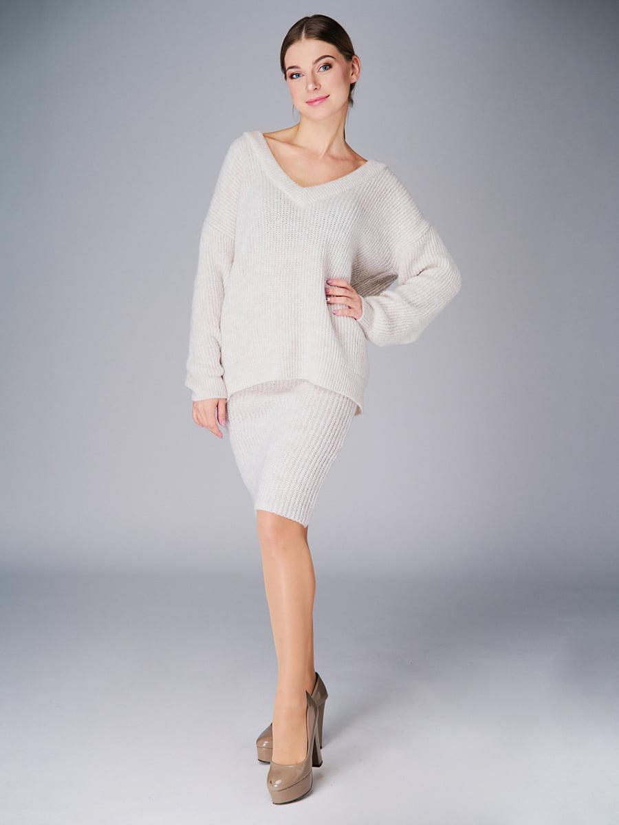 Комплект: пуловер і спідниця | 4778468