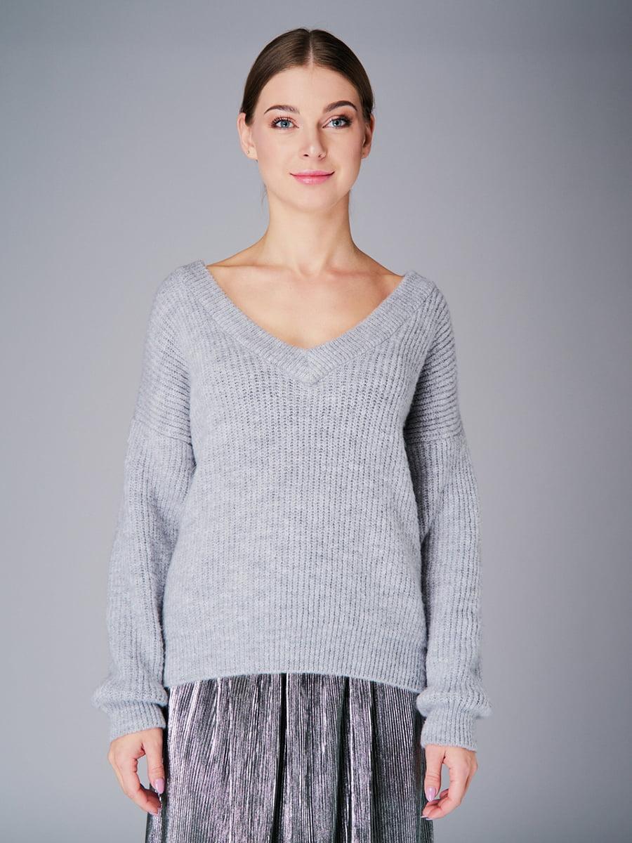 Пуловер серый   4778476