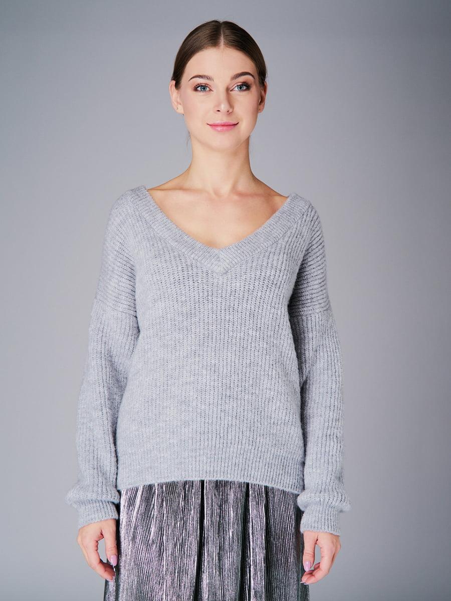 Пуловер серый   4778476   фото 2