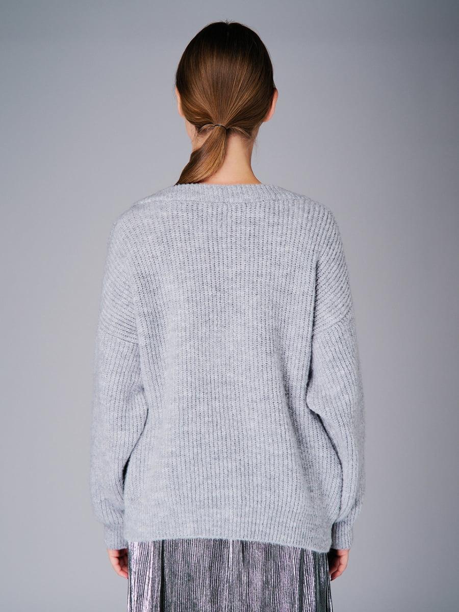 Пуловер серый   4778476   фото 3