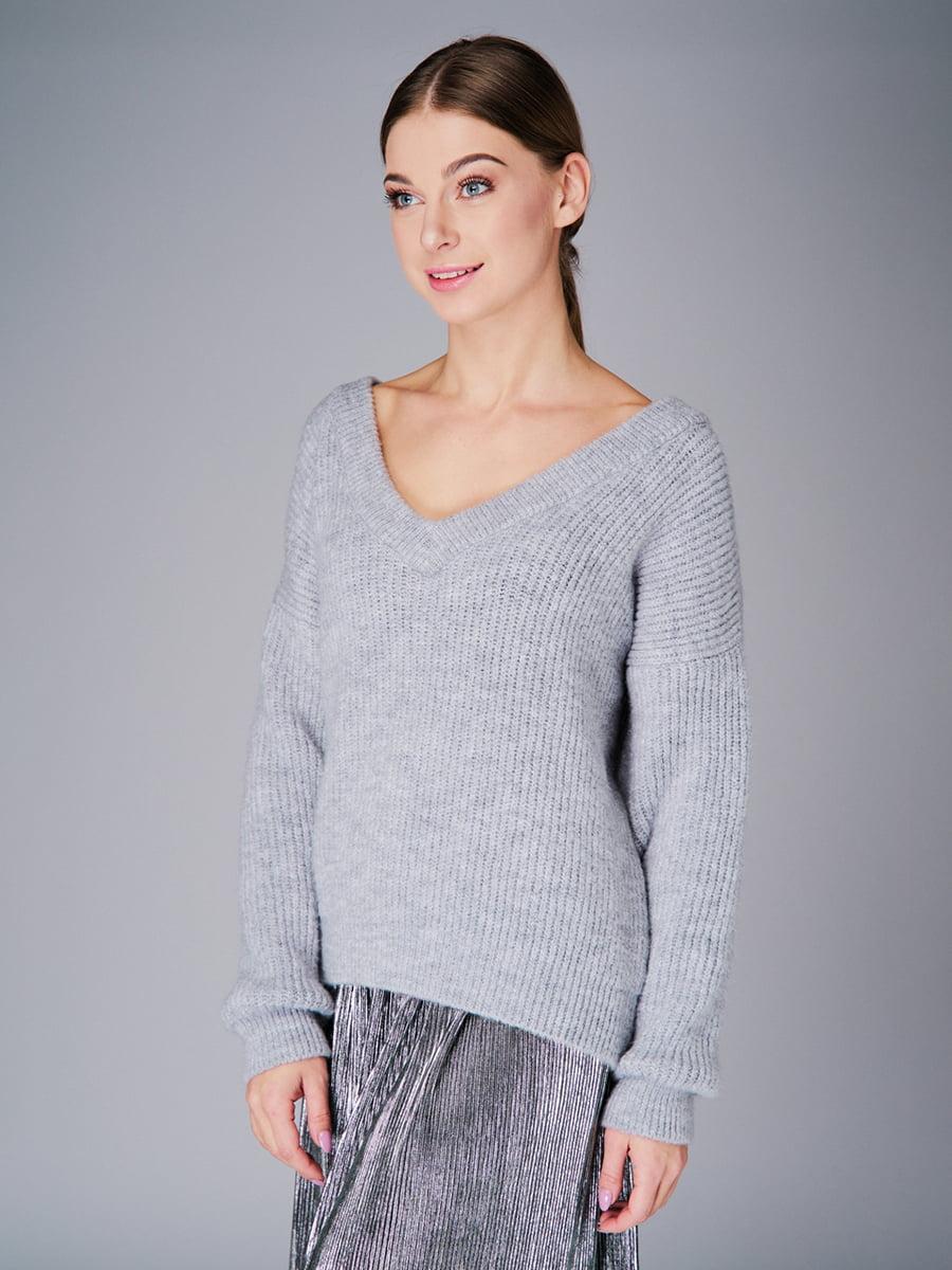 Пуловер серый   4778476   фото 4