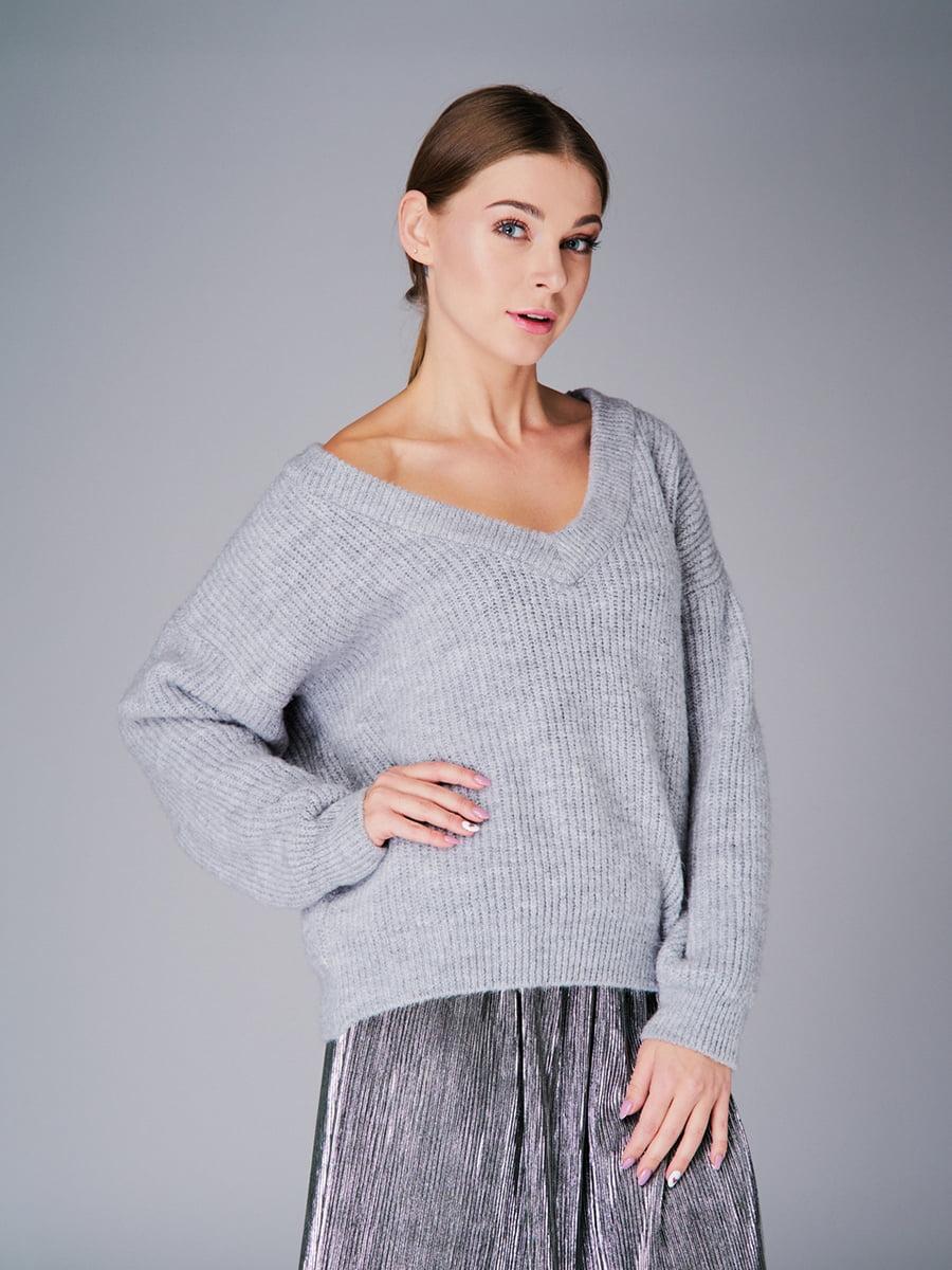 Пуловер серый   4778476   фото 5
