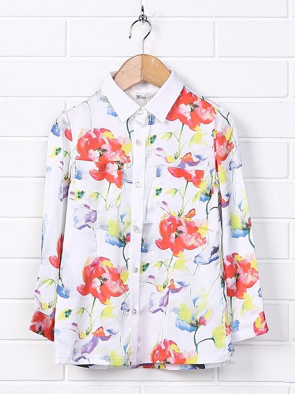 Сорочка в квітковий принт | 4781268