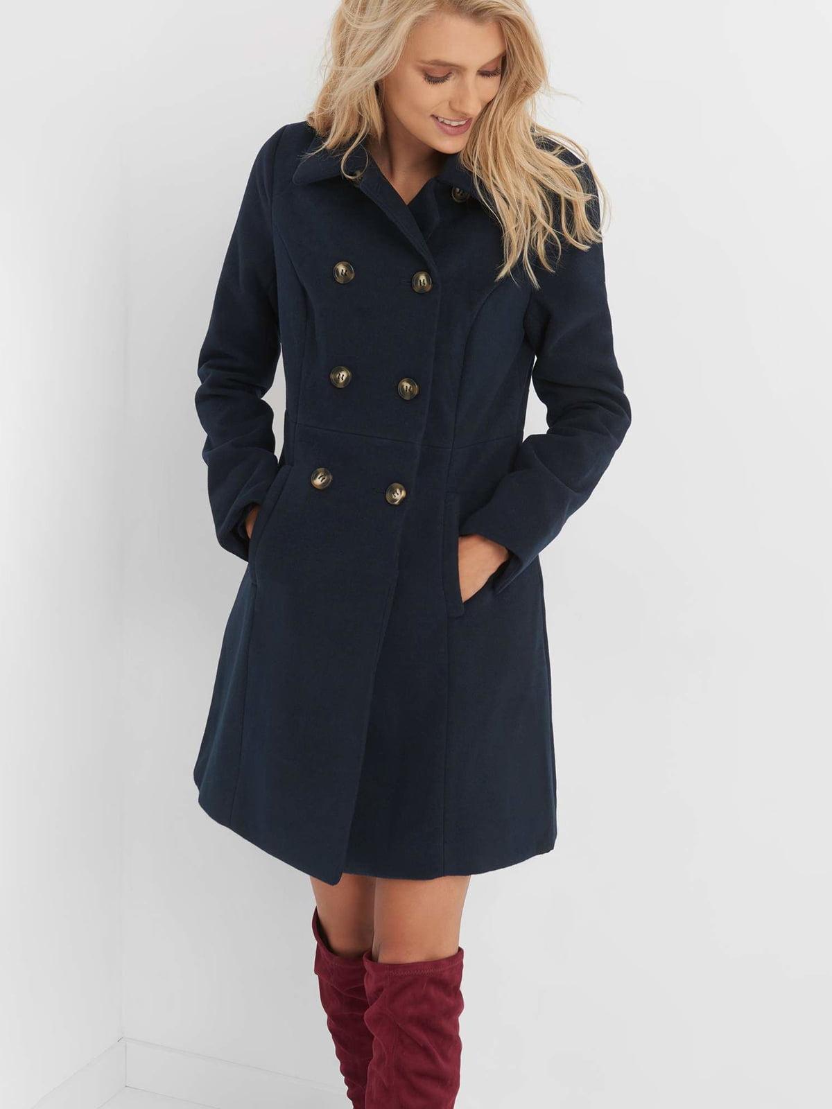 Пальто синє | 4677712 | фото 10
