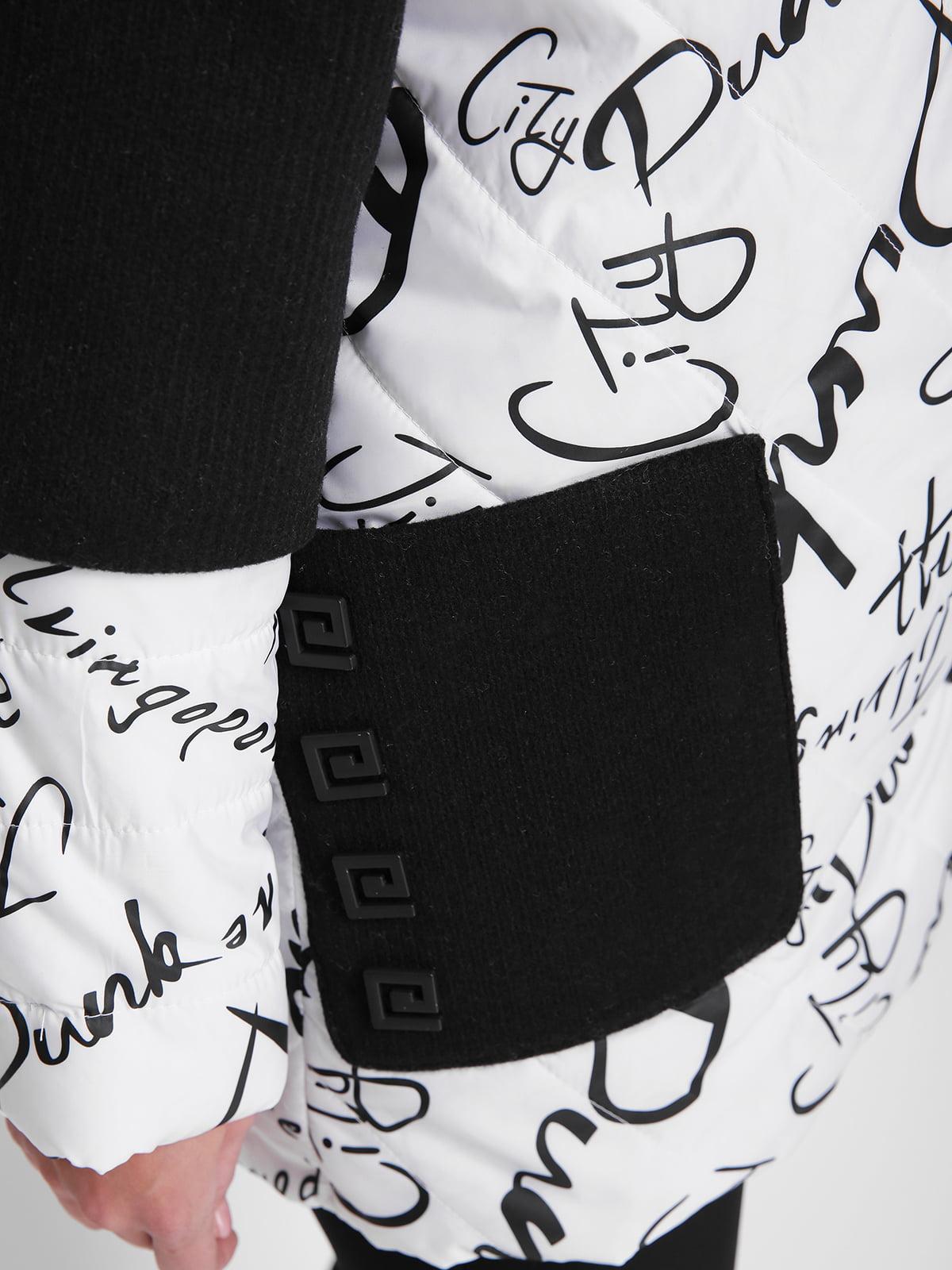 Куртка бело-черная в принт | 4781713 | фото 3